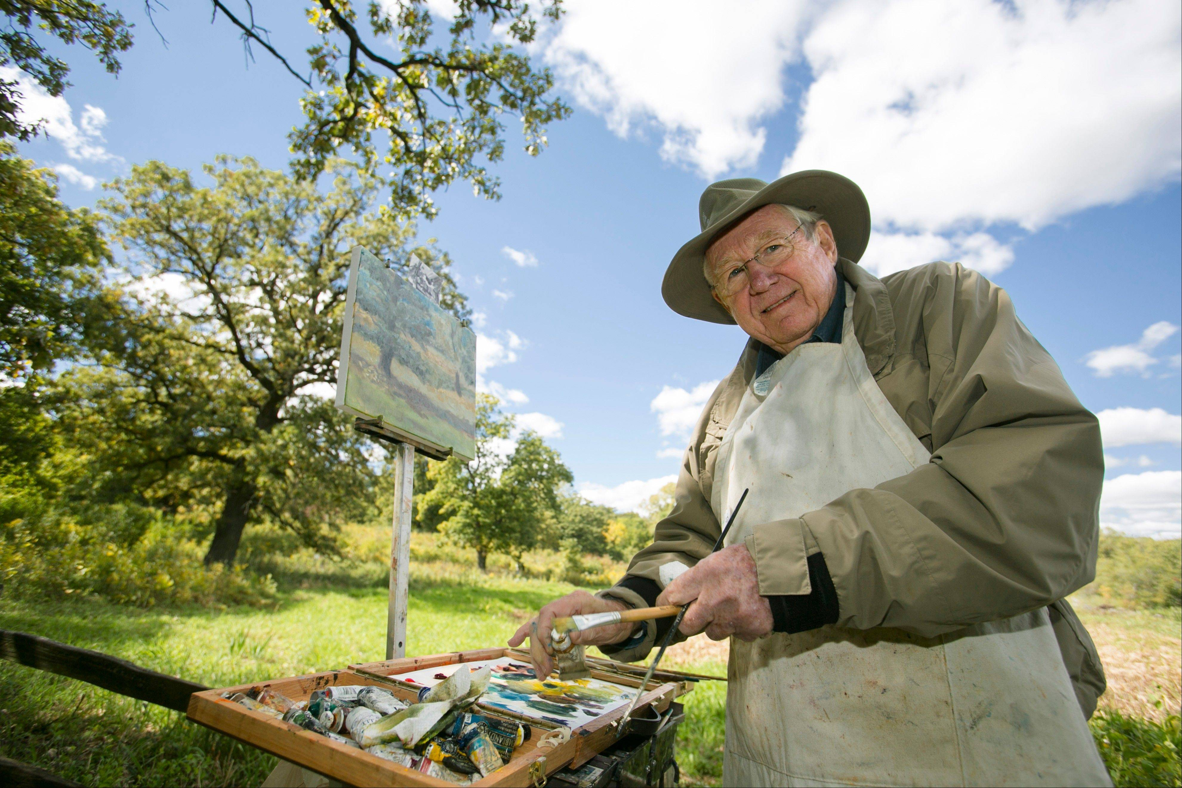 Fifty artists will be painting nature scenes at the Art in Nature event at Crabtree Nature Center Sunday.