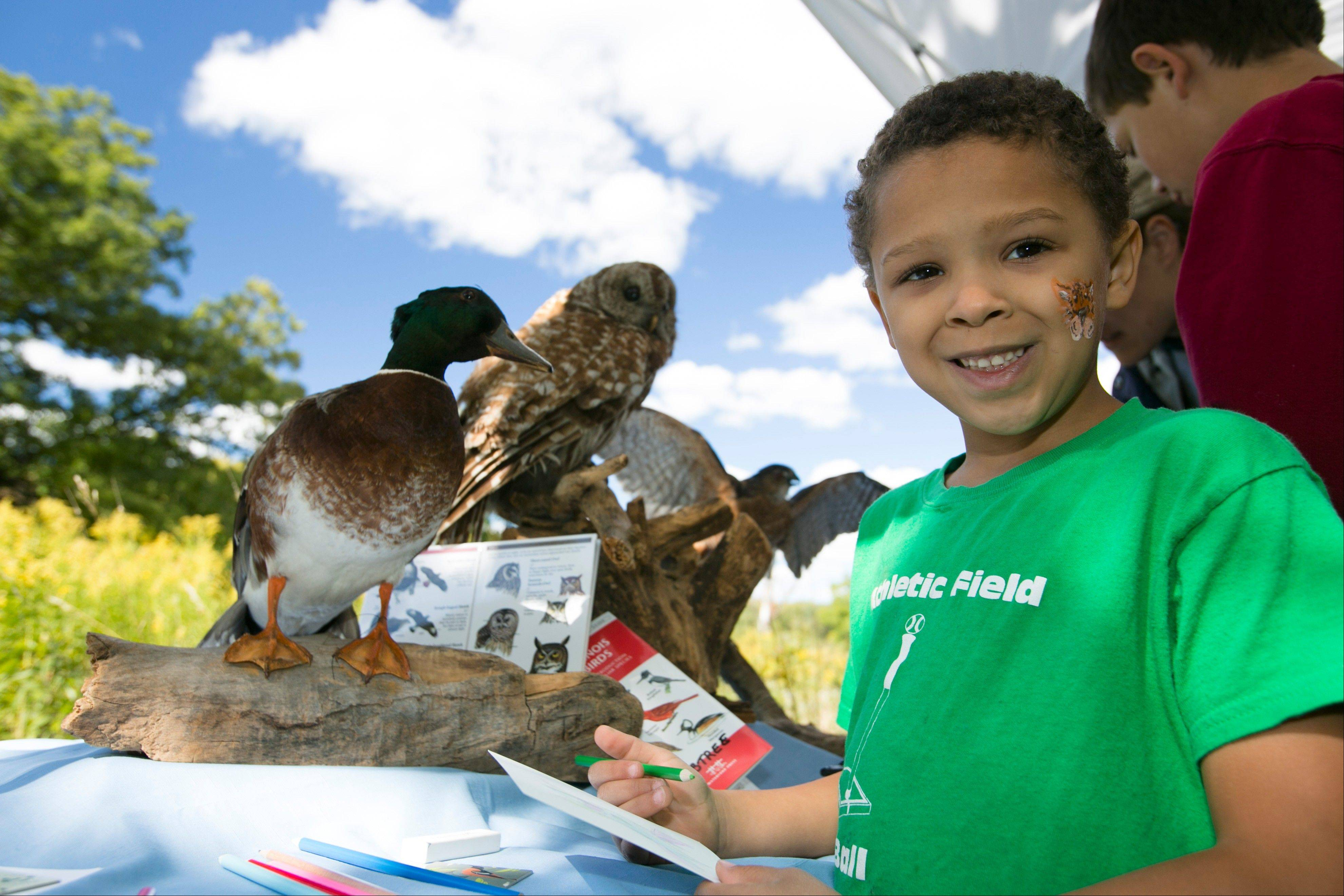 Kids can sculpt with clay, paint or draw at the Art in Nature event at Crabtree Nature Center Sunday.