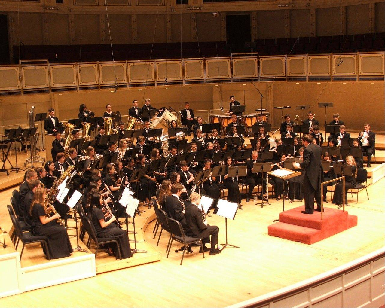 The Buffalo Grove High School Symphonic Band performs at Orchestra Hall in Chicago in March 2012. This is the home of the Chicago Symphony Orchestra and was a milestone performance for both Band Director Ed Jacobi and the Buffalo Grove Symphonic Band.
