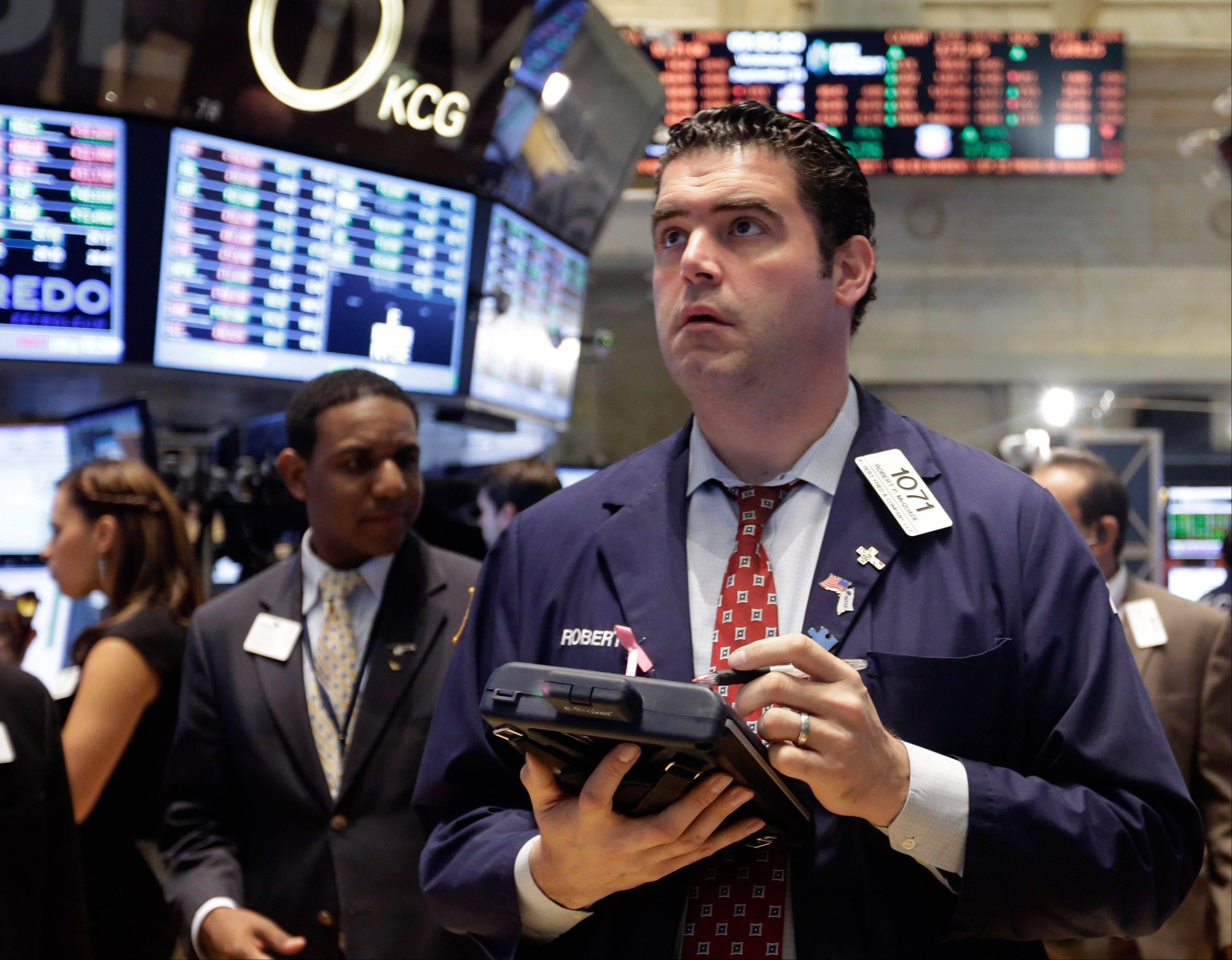U.S. stocks rose, halting the longest slump this year for the Standard & Poor�s 500 Index, as an unexpected drop in jobless claims overshadowed concern that a budget impasse could hurt economic growth.