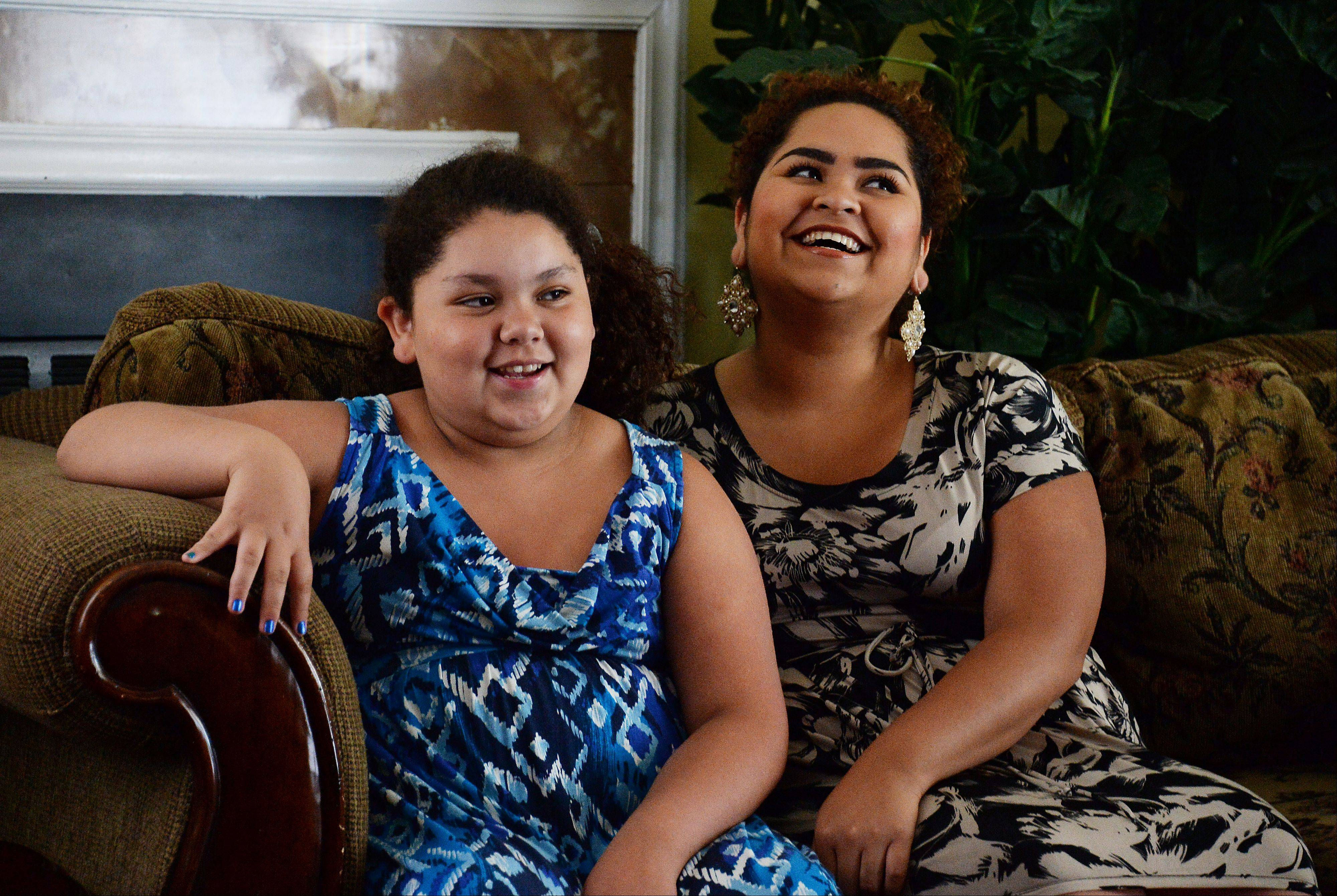 Love, determination, a commitment to family and selfless efforts of many people throughout the suburbs helped keep Greta Ramirez, left, and her older sister Karen together after a family tragedy.
