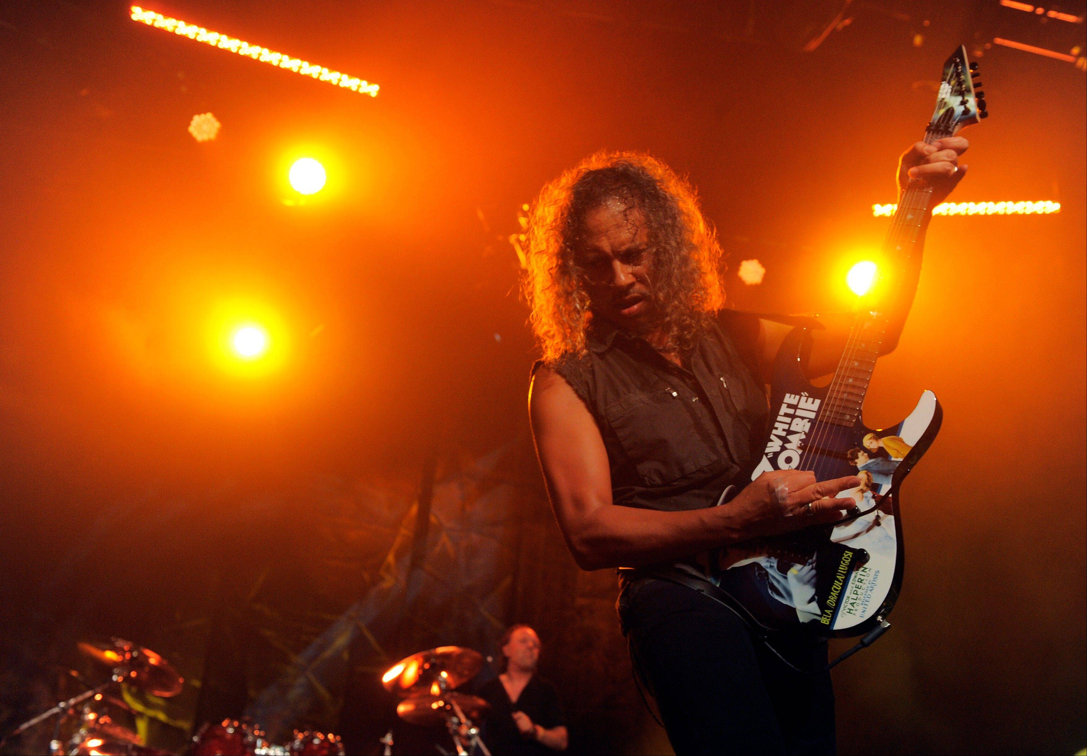 "Metallica's Kirk Hammett will appear at the AMC Streets of Woodfield 20 movie theater early Friday morning to introduce the screening of ""Metallica Through the Never."""