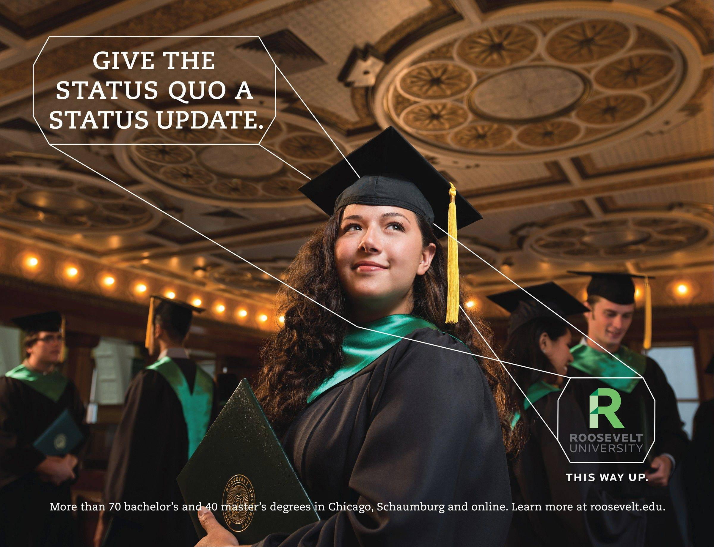 Victoria Pena of Glendale Heights is one of the stars of a new Roosevelt University ad campaign aimed at prospective students.