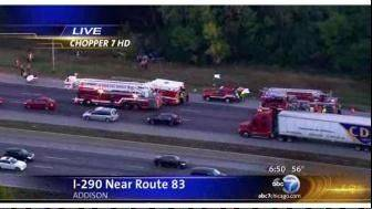 Four die on I-290 near Addison; police say failure to use seat belts contributed to fatalities