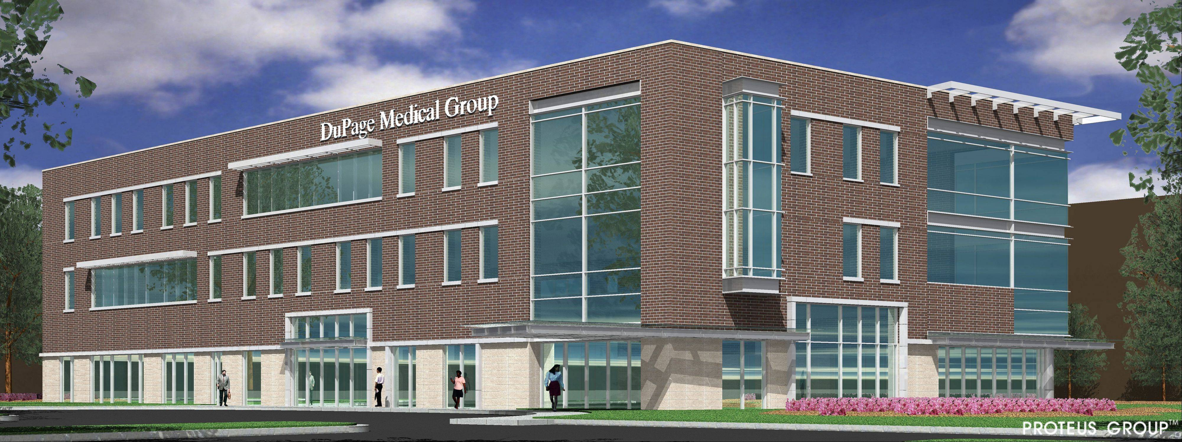 The three-story, 40,000-square-foot DuPage Medical Group facility is scheduled to open this spring in downtown Wheaton.