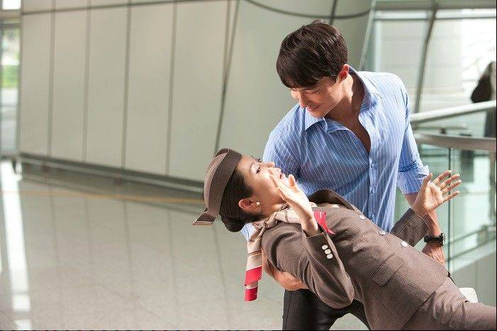 "The wife (Moon So-Ri) of a secret agent falls for a murderous double-agent (Daniel Henney) in the jumbled comedy-action film ""The Spy."""