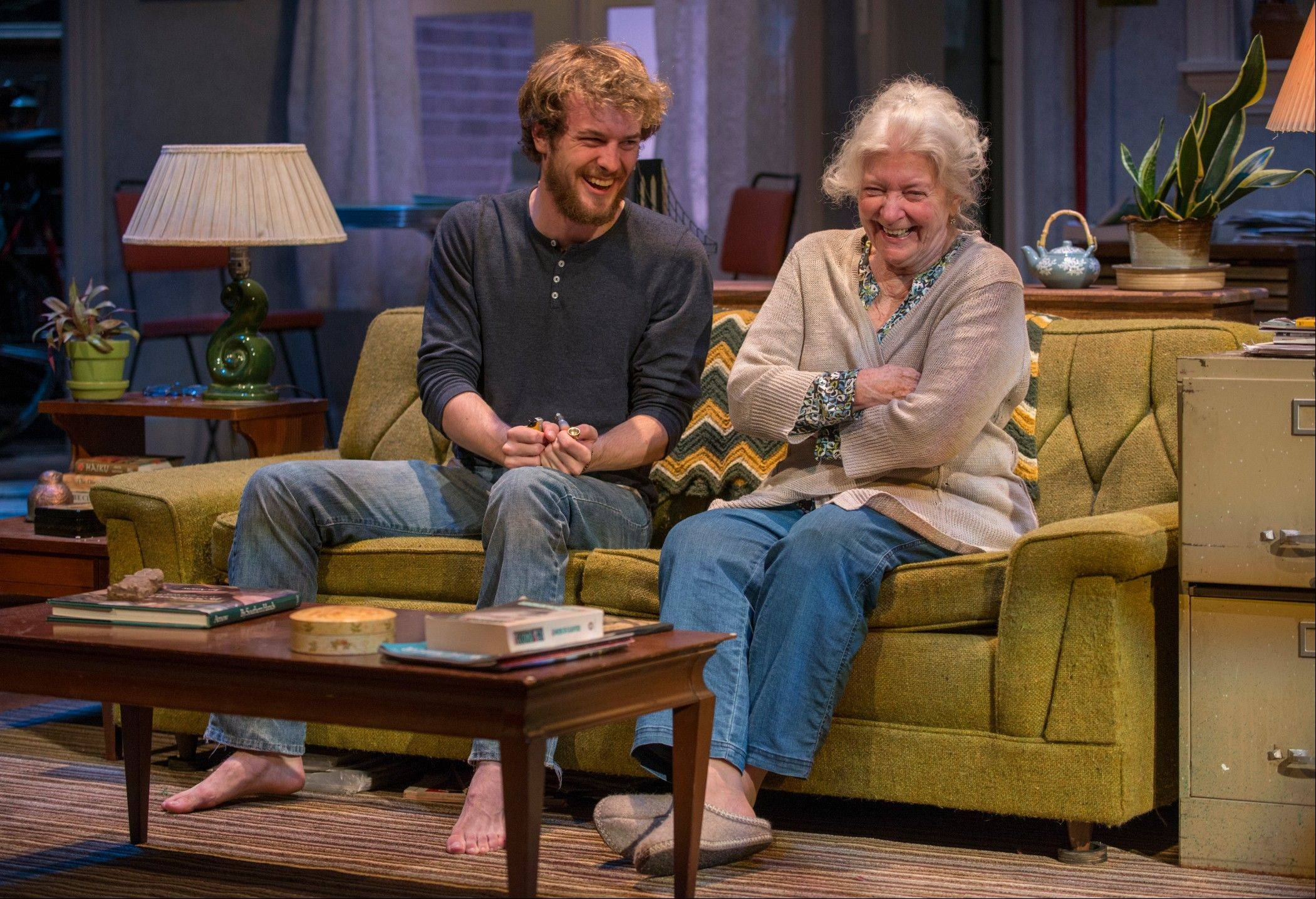 "Vera Joseph (Mary Ann Thebus) struggles with growing old while her grandson Leo (Josh Salt) struggles to grow up in Amy Herzog's ""4000 Miles,"" in its Chicago-area premiere at Northlight Theatre."