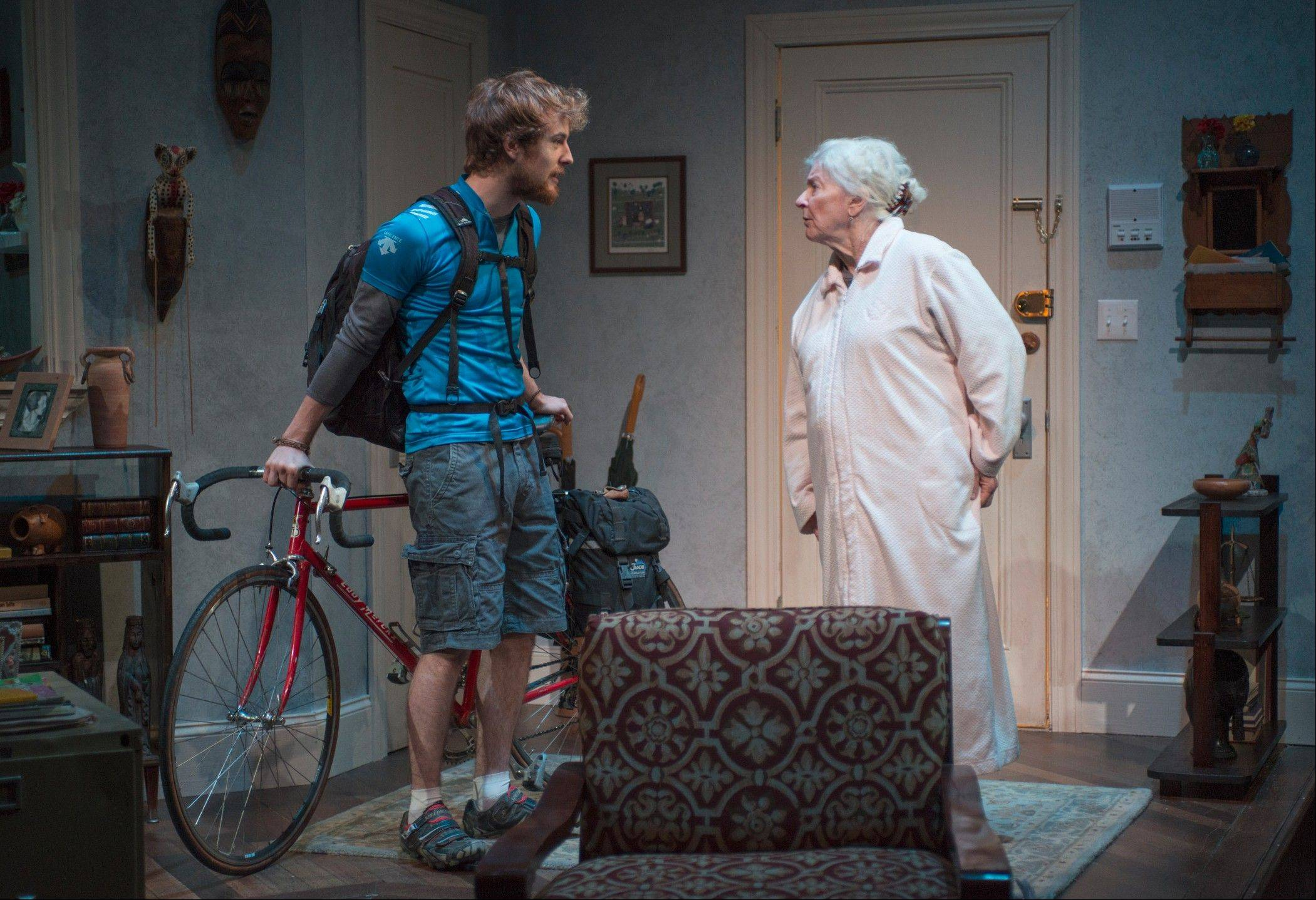 "Leo (Josh Salt) arrives in the middle of the night at the New York City apartment of his grandmother Vera (Mary Ann Thebus) in Amy Herzog's ""4000 Miles."" Northlight Theatre artistic associate Kimberly Senior directs the Chicago-area premiere."