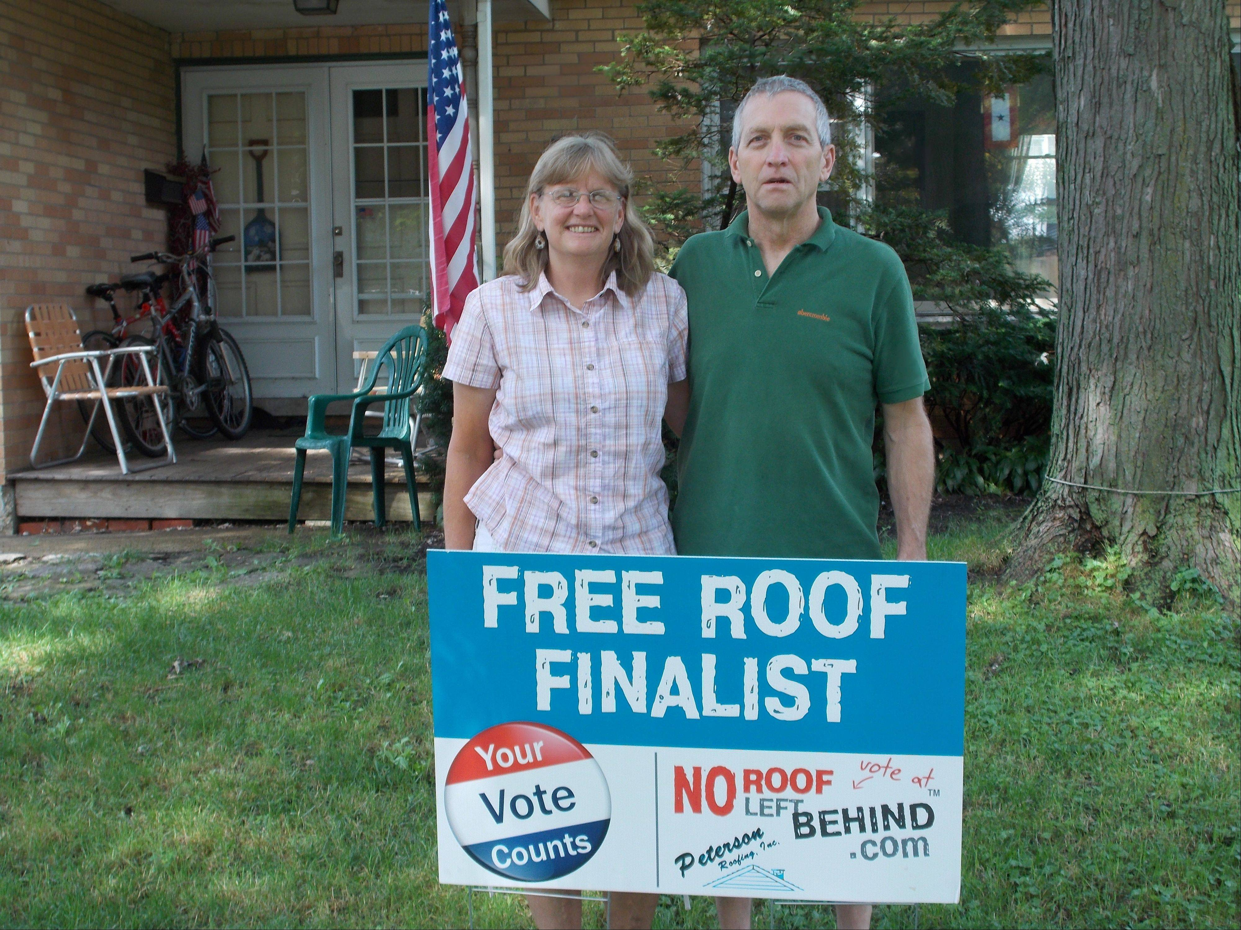 Heather and Scott Thornton of Palatine have won a new roof through a contest that sought a deserving family or suburban resident who have contributed in some way to their community.