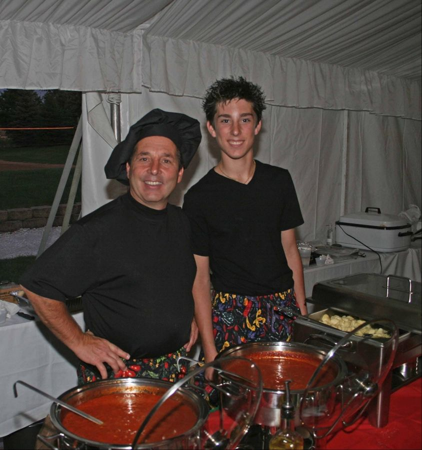 Fifty men from the community will prepare their favorite recipes during the 50 Men Who Cook event in Bloomingdale. Among the cooks returning this year are Patrick Ranallo, left, and his son Dominick. They plan to make Italian hamburgers.