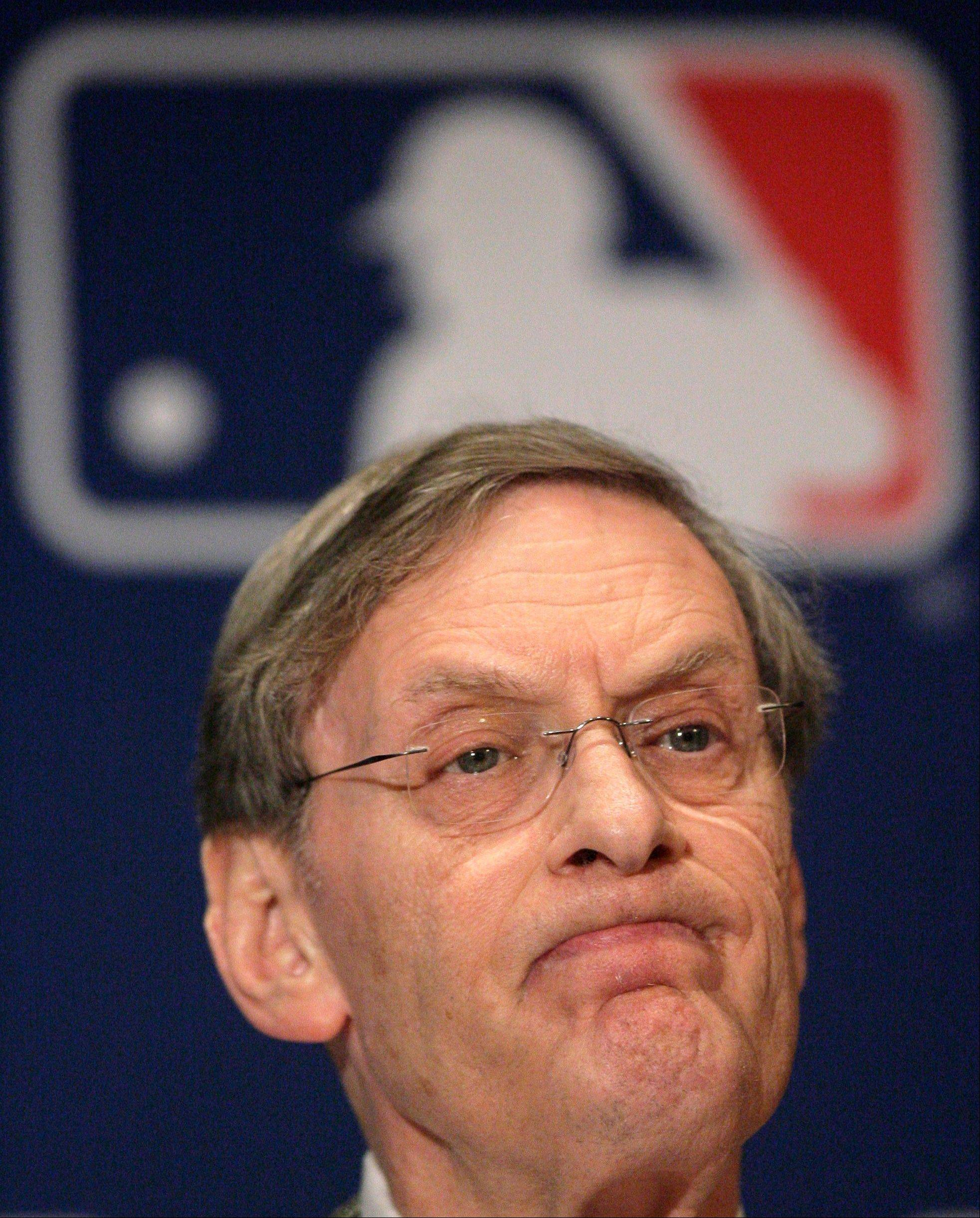 Major League Baseball Commissioner Bud Selig speaks during a news conference in 2007.
