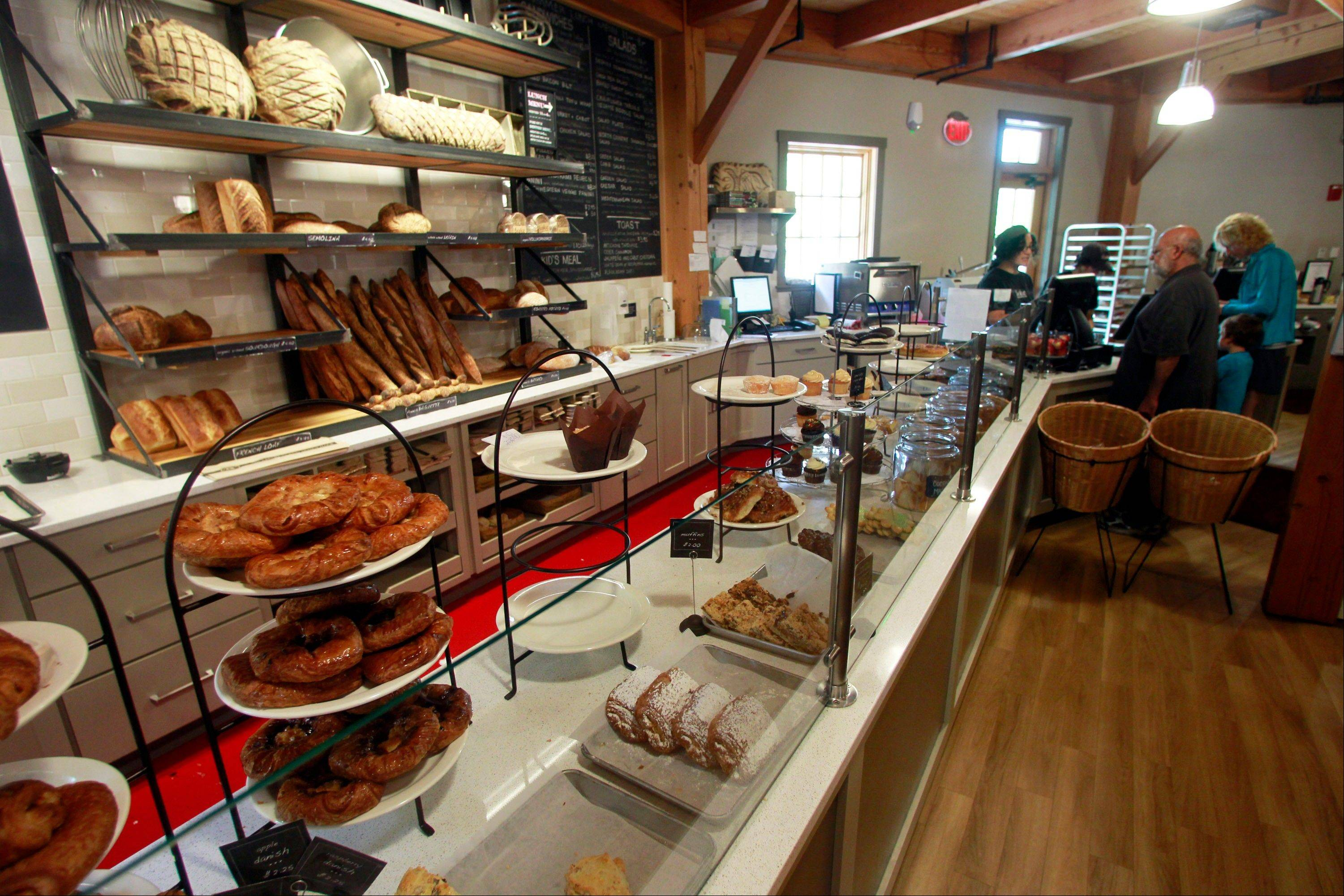 The cafe at King Arthur Flour Co. in Norwich, Vt., serves baked goods made from their flour.