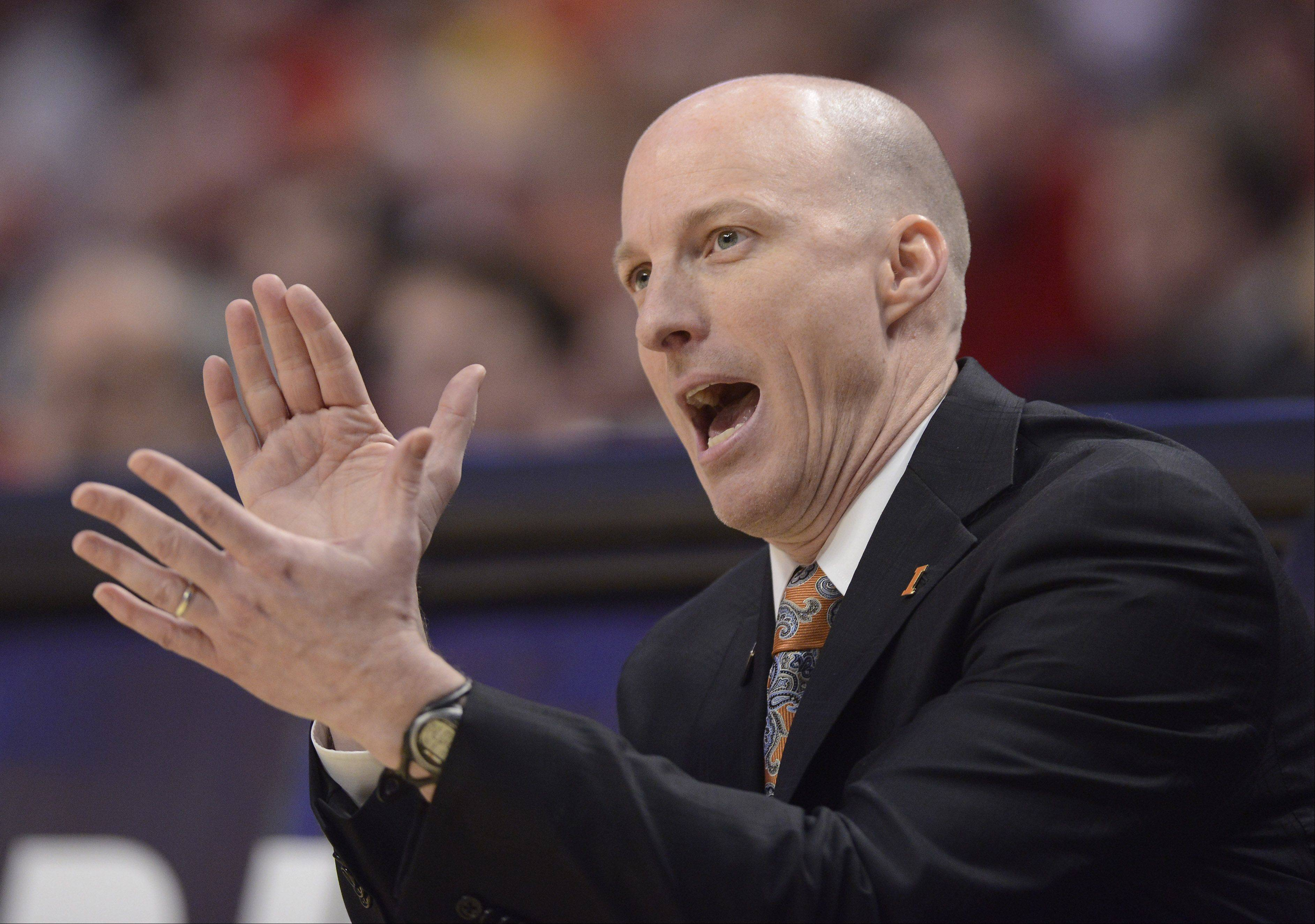 Illinois men�s basketball coach John Groce