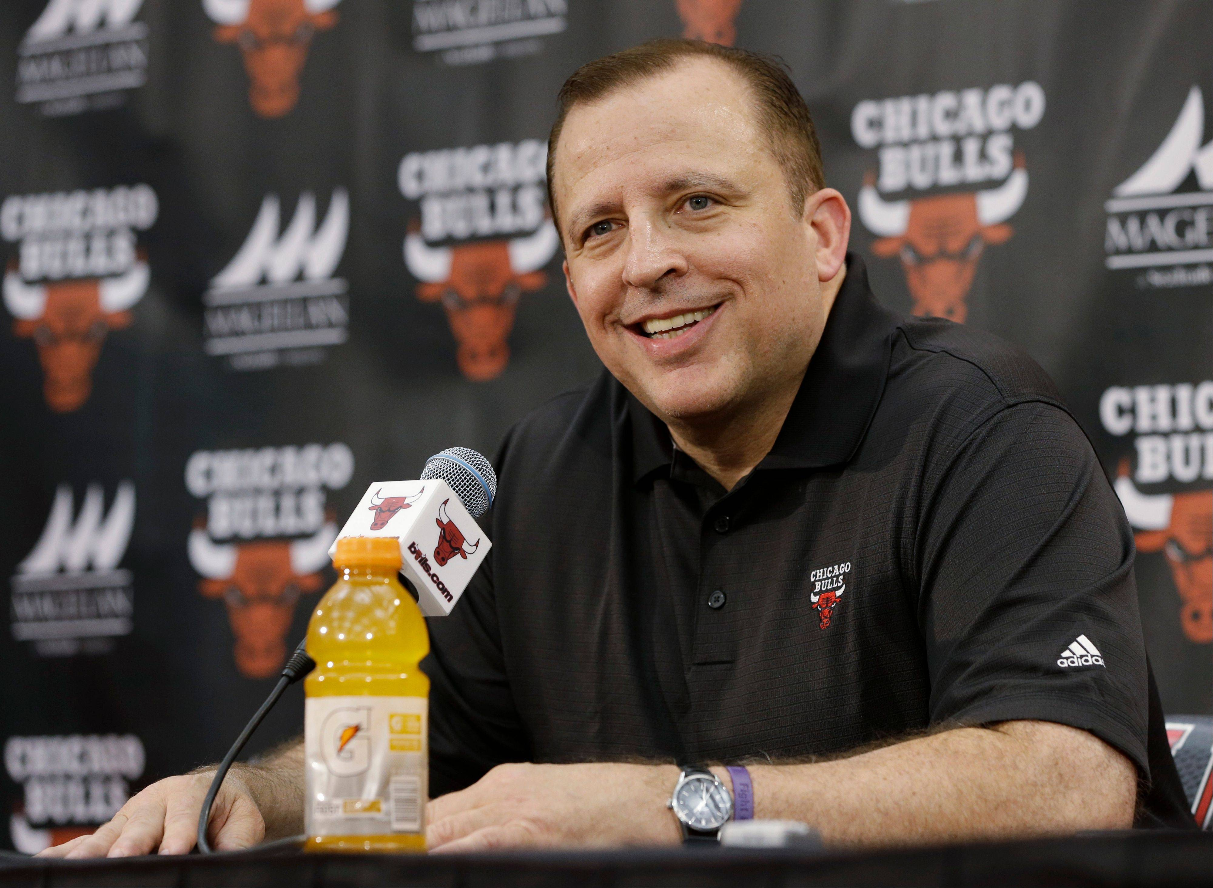 Bulls coach Tom Thibodeau was smiling here at Friday�s news conference, but he had harsh words later for critics who believed Derrick Rose should have played in the playoffs.