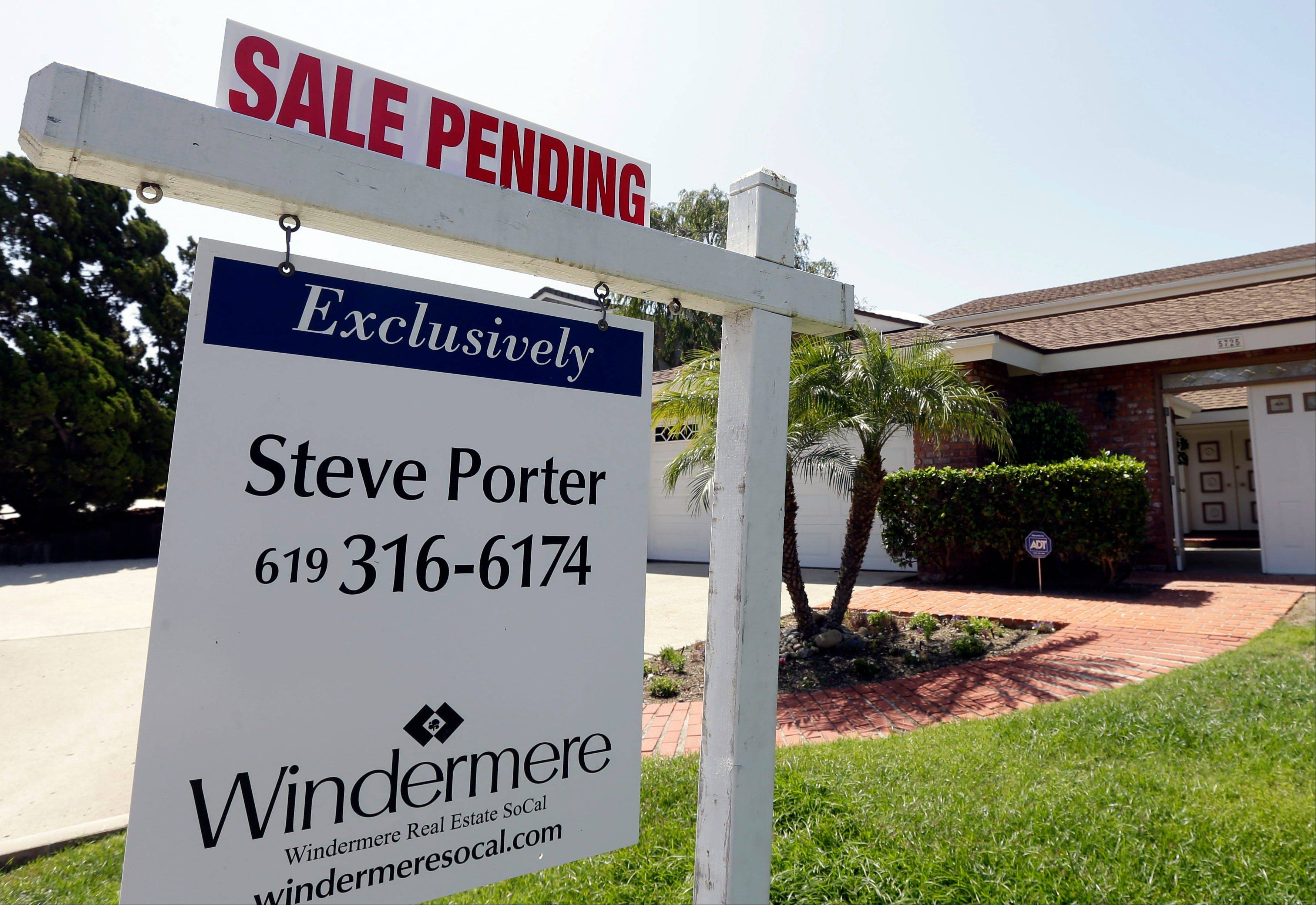 A home with a sale pending in San Diego. Improvements in the housing market have helped boost FHA's finances.