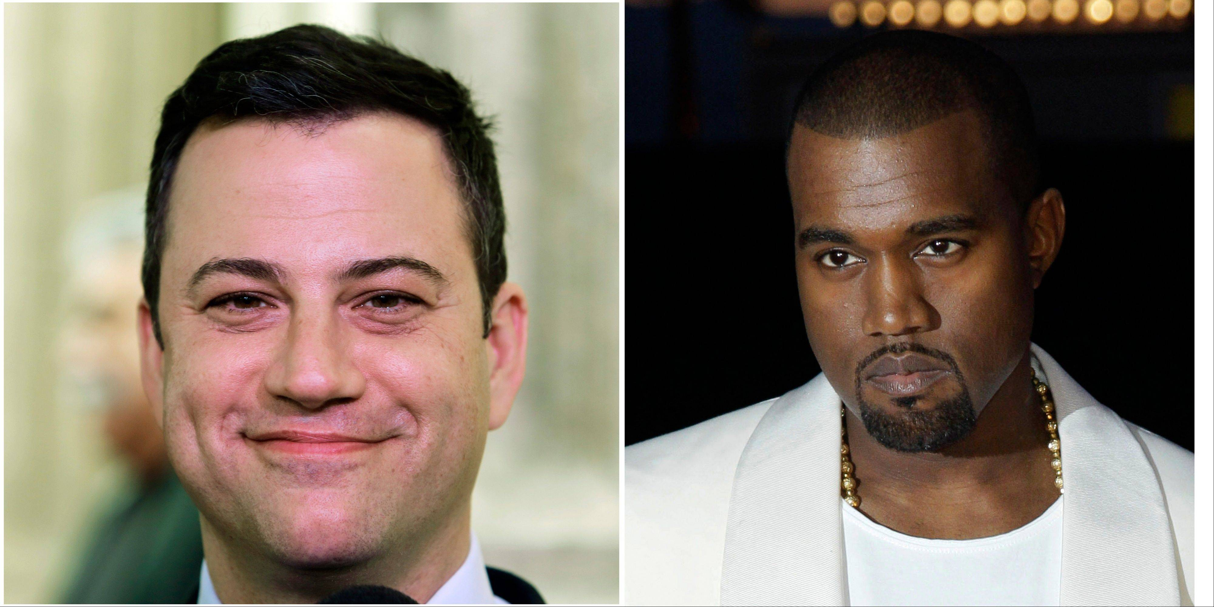 "Jimmy Kimmel and Kanye West either are engaged in a bitter feud or a heck of a parody. Kimmel's monologue Thursday night Sept. 26, 2013 was devoted to discussing what he called a ""very angry phone call"" he received from West about an hour and a half before taping ABC's ""Jimmy Kimmel Live."""