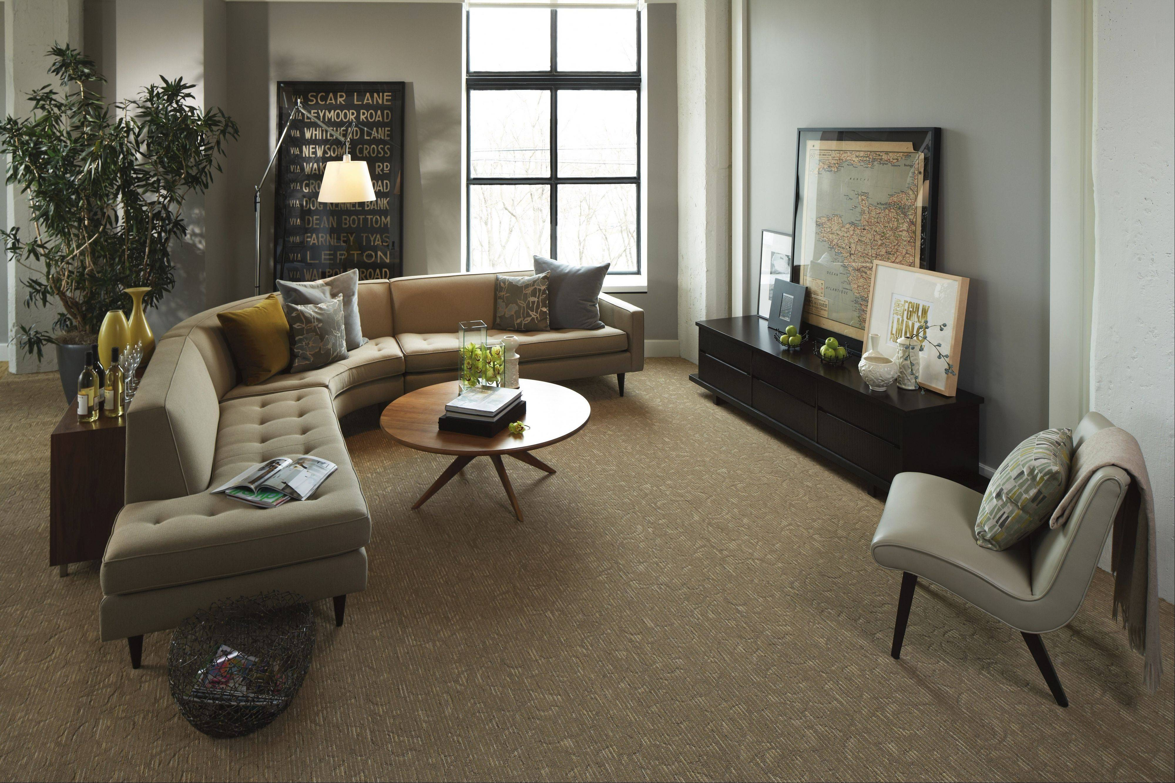 Many homeowners select a classic pattern carpet that hides traffic patterns and gives the room a little bit of interest, said Lisa Carlson Nelson, owner of Carlson's Flooring in Geneva.