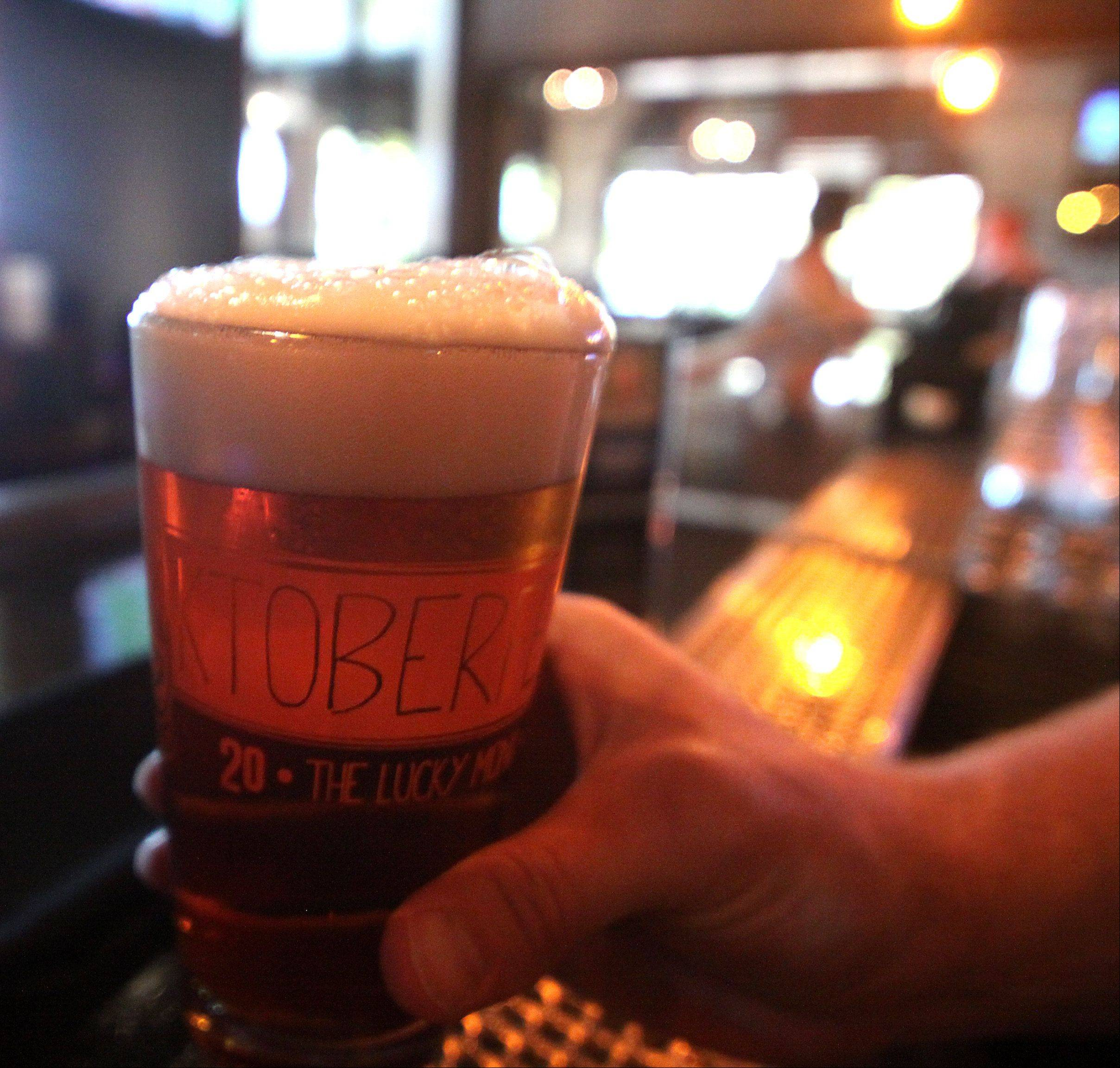 In a nod to the beer's origins, the Oktoberfest at The Lucky Monk in South Barrington is brewed with malt from Munich.