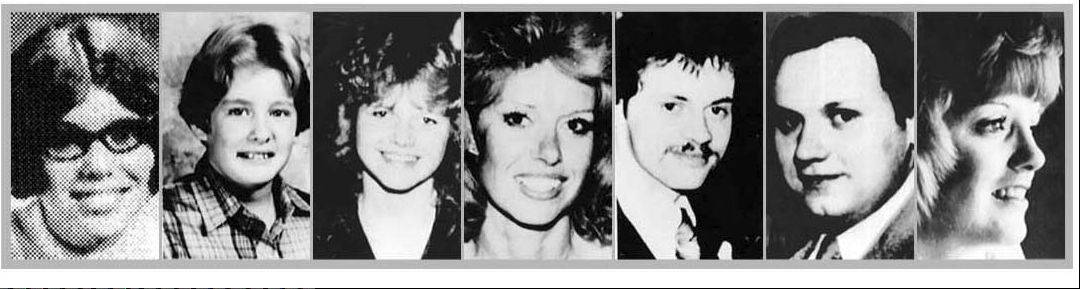 Tylenol murder victims were, from left, Mary Reiner, Mary Kellerman, Theresa Janus, Paula Prince, Stanley Janus, Adam Janus and Mary McFarland.