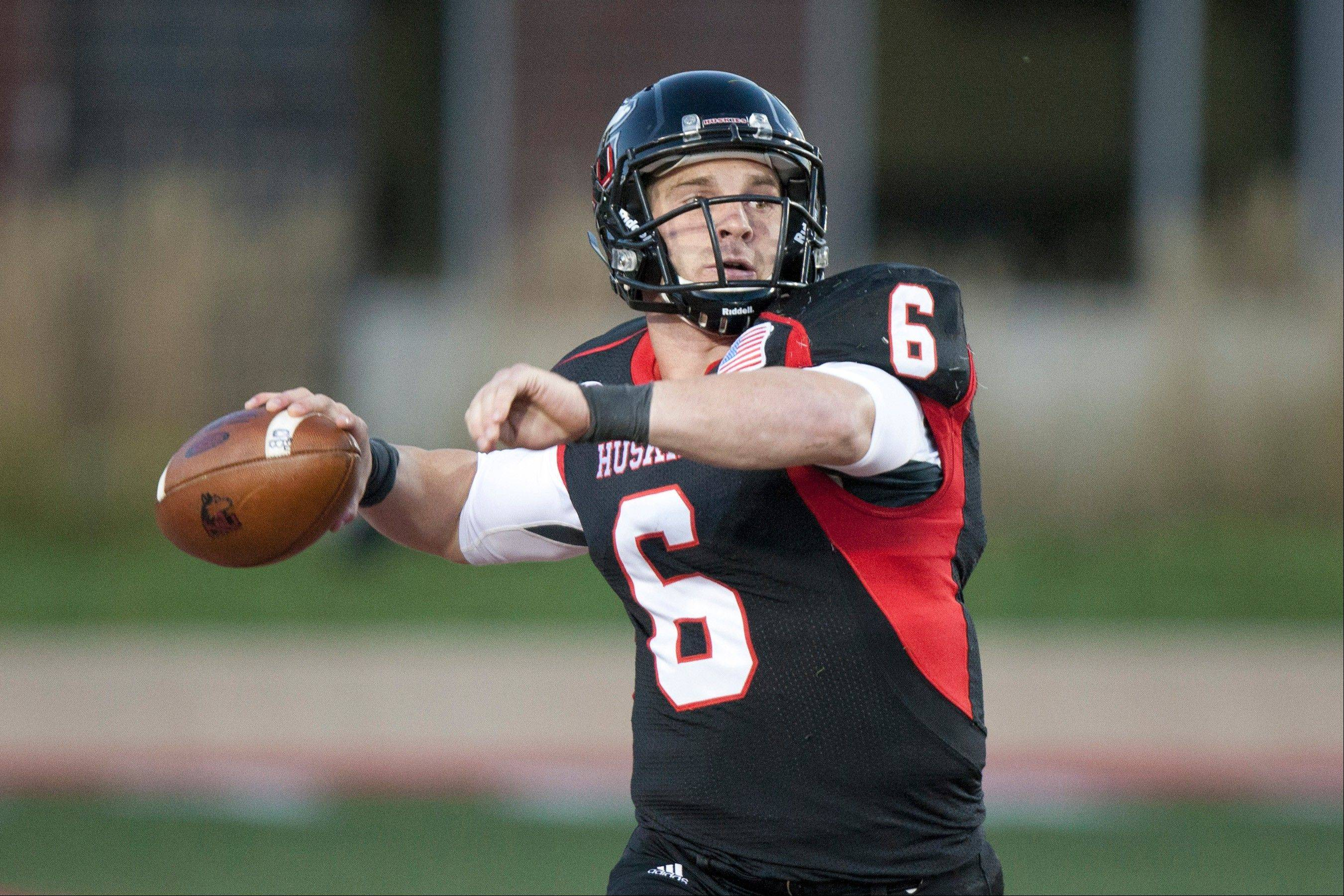 Northern Illinois quarterback Jordan Lynch will try to lead his Huskies to a second win over a Big Ten opponent this season when NIU plays at Purdue on Saturday.