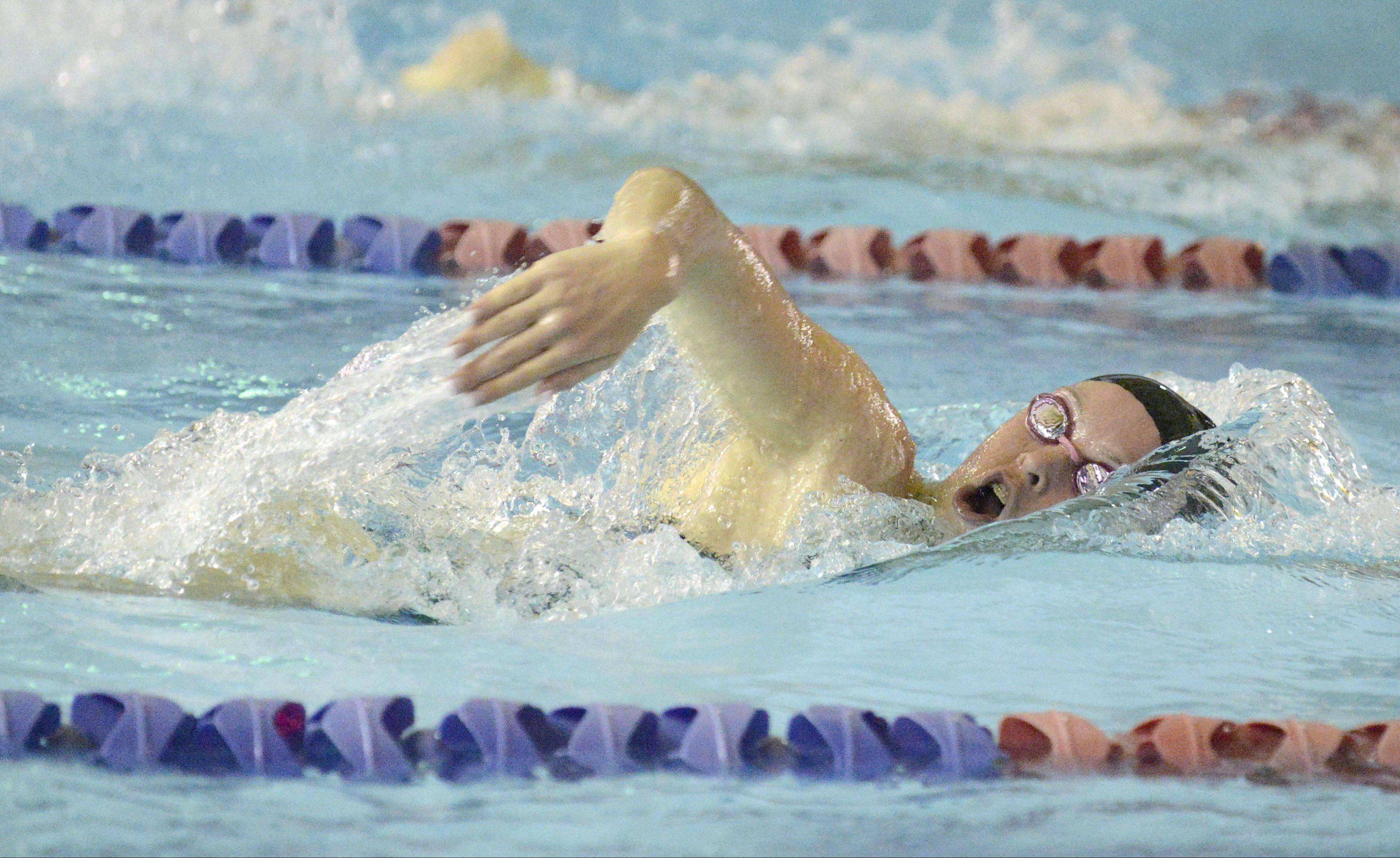 Rosary's Georgia Young competes in the 500 yard freestyle.