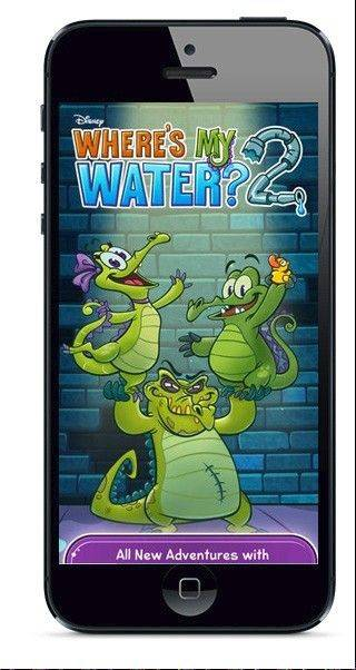 The Where's my Water 2 app brings Swampy the alligator back for more water physics fun.