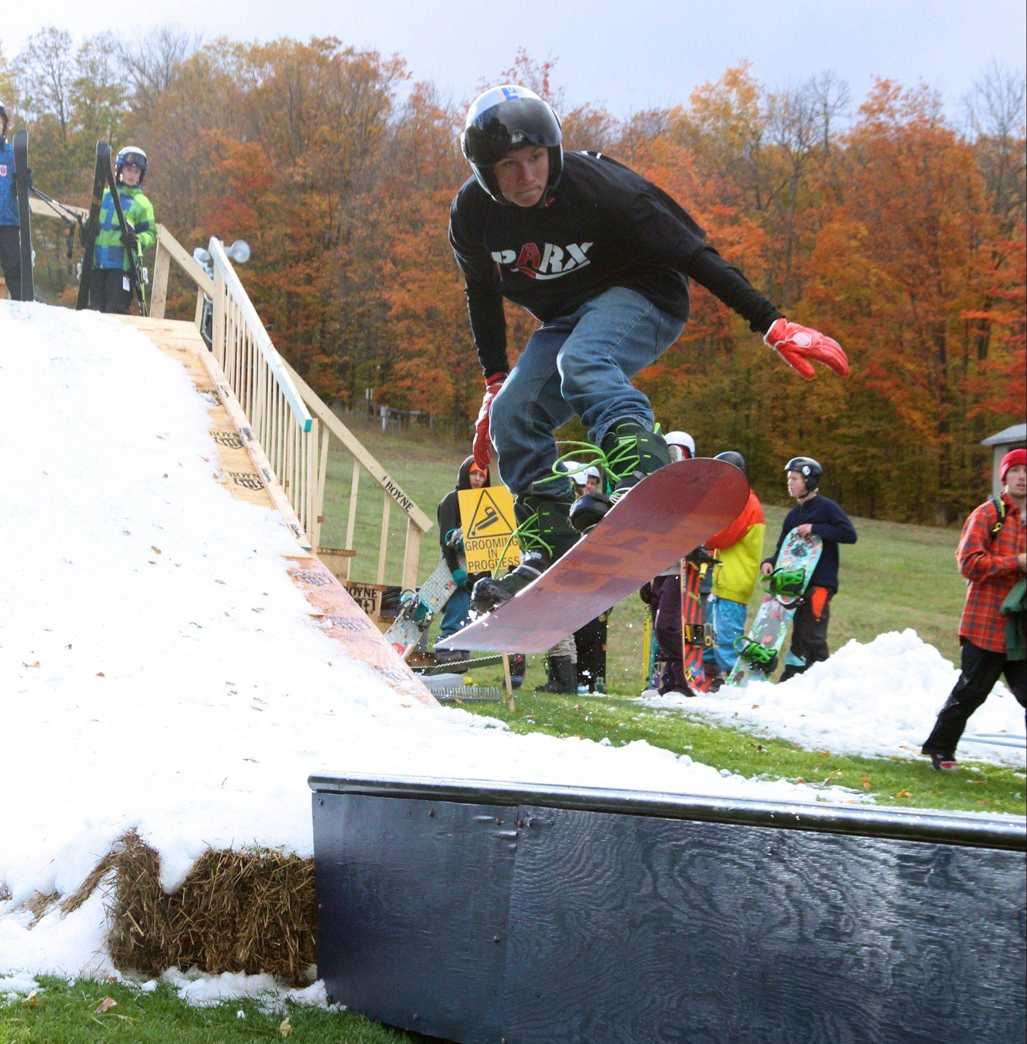 A competitive rail jam is one of many popular performances during Boyne Mountain's Skitoberfest Oct. 4-5.