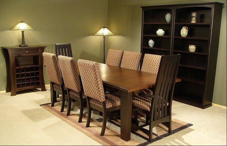 This dining room set is made in the Shaker style.