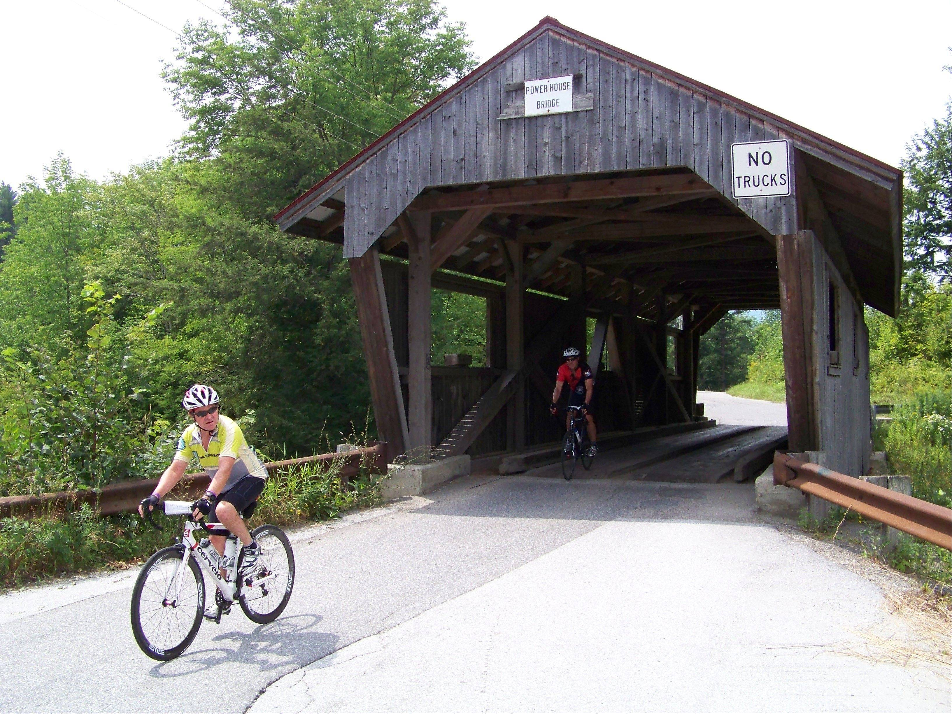 Enjoying the Vermont scenery is part of the attraction of bike and brew tours.