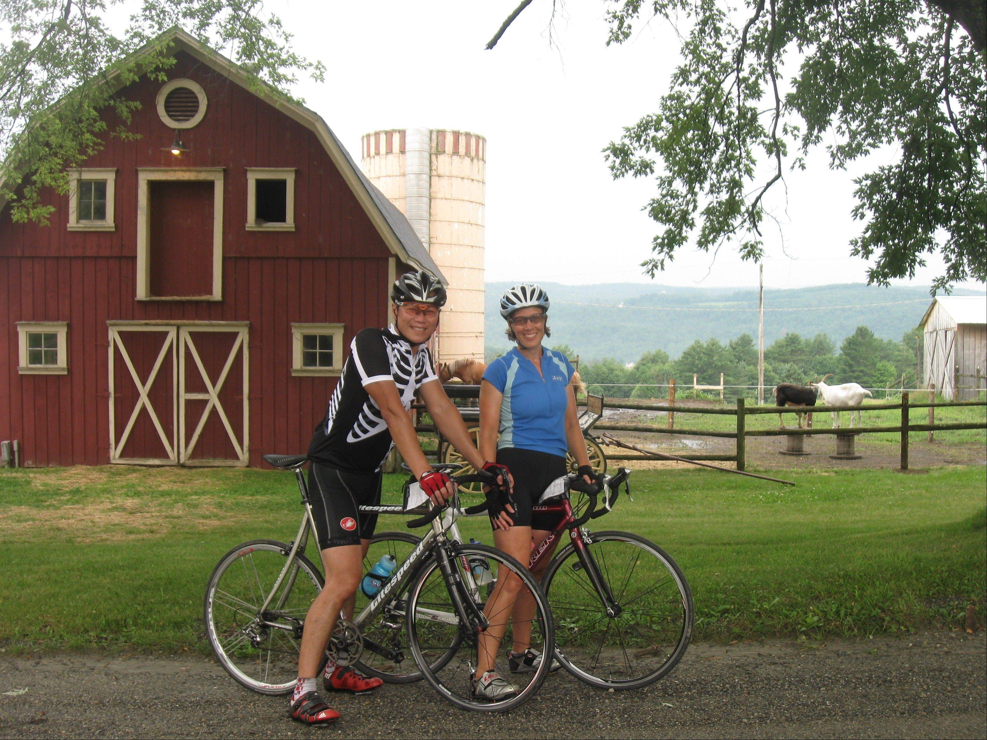 Participants enjoy the Vermont Bike & Brew Tour, which takes bikers on a scenic six-day, five-night trip to visit craft breweries.