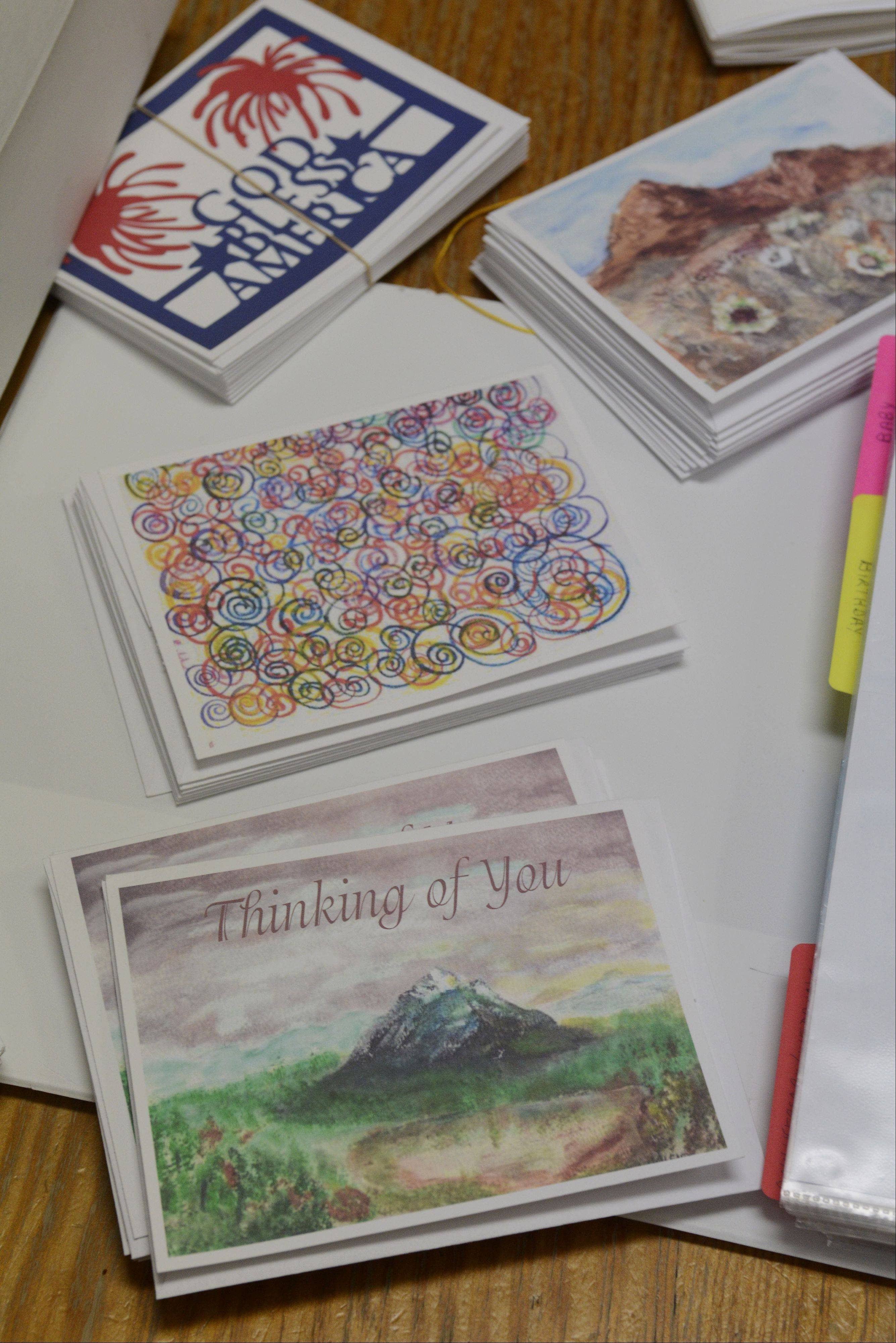 Sales of greeting cards made by people with mental illnesses help with the recovery process at the Kenneth Young Center in Elk Grove Village.