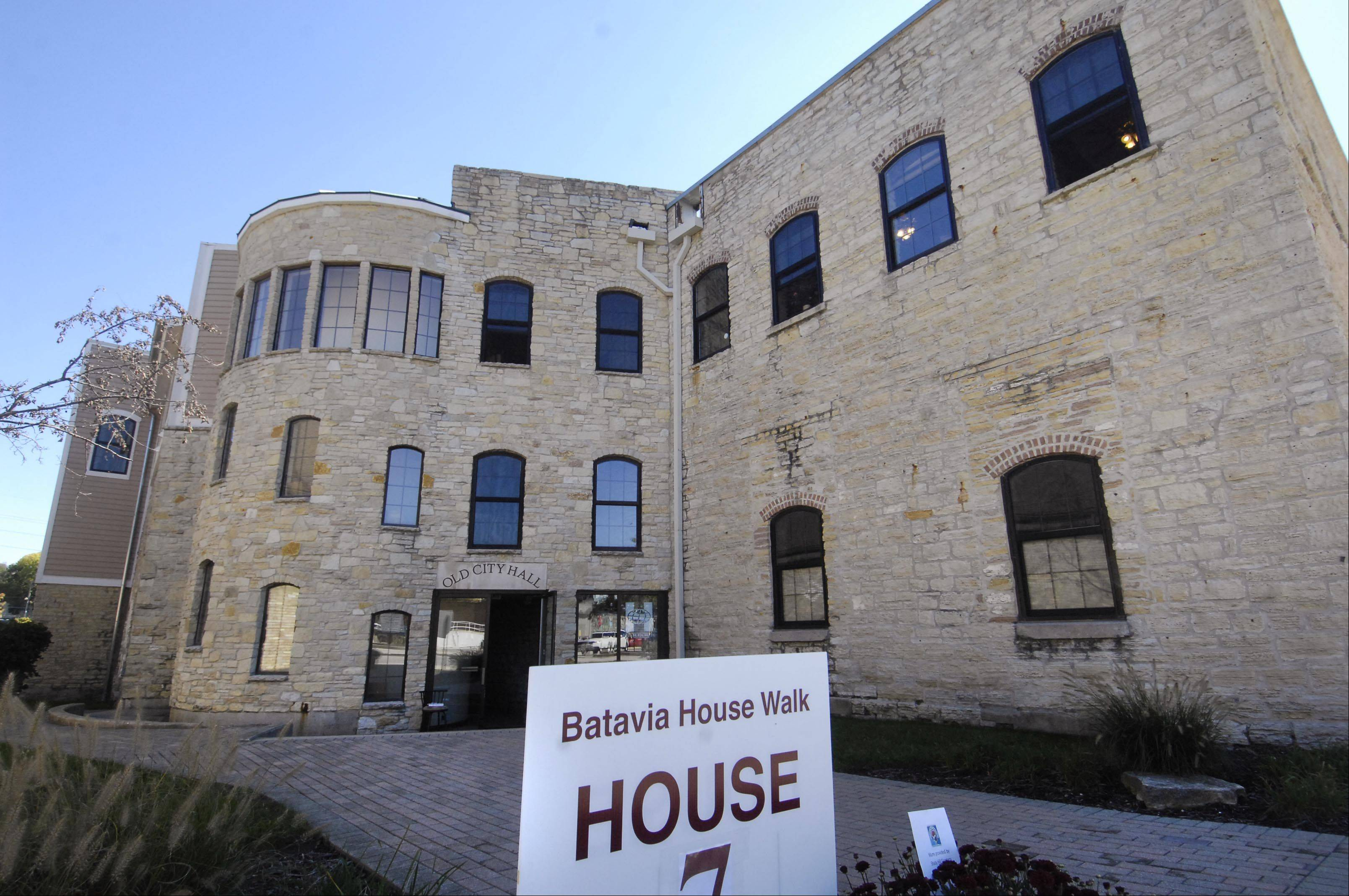 The original Batavia city hall and firehouse, now an office building, was the seventh stop Sunday during the Batavia Main Street House Walk. Tours were conducted through several historical homes and buildings to benefit the Batavia MainStreet program.