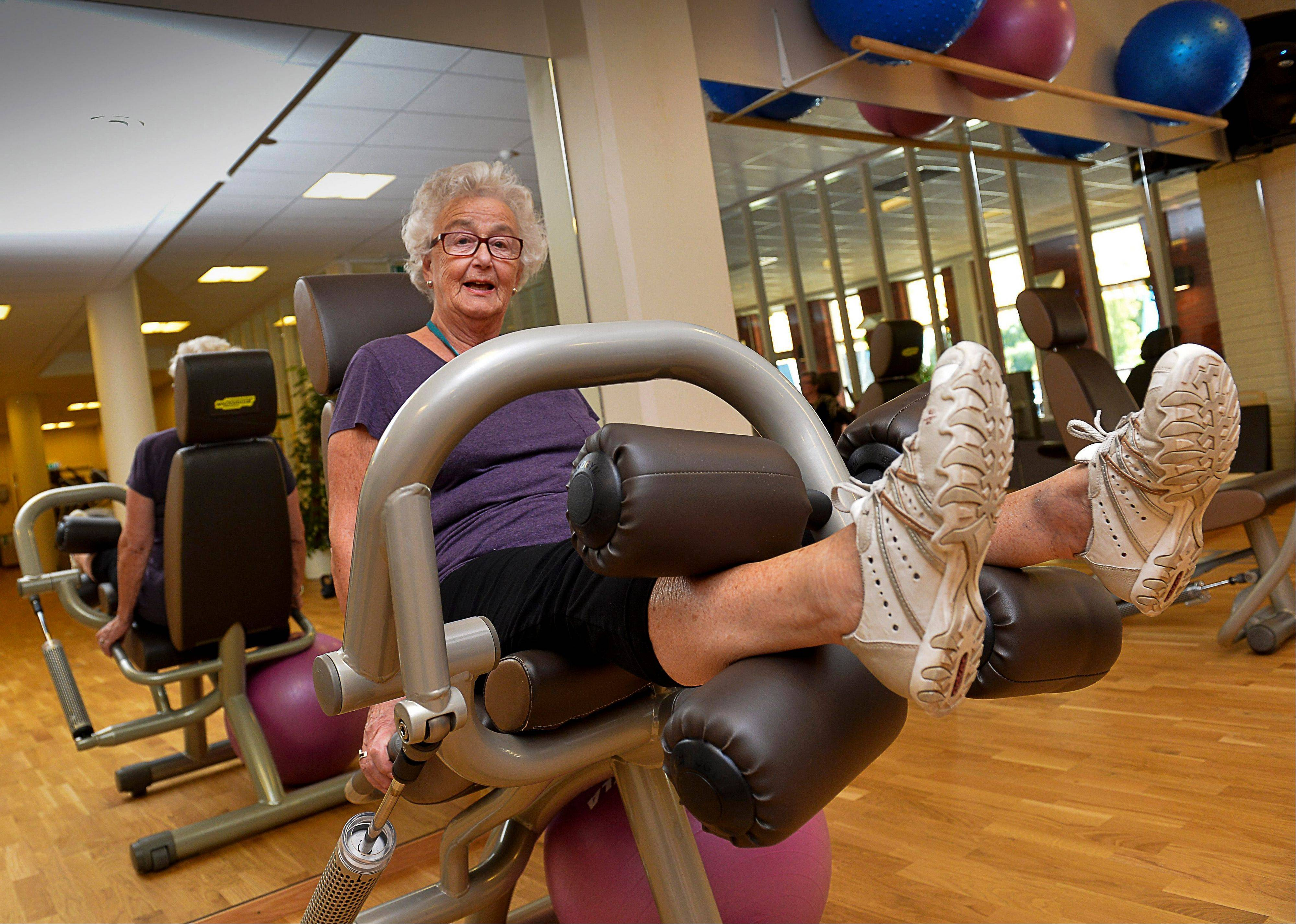 Marianne Blomberg, 80, works out at a gym in Stockholm, Sweden. Much of the world is not prepared to support the ballooning population of elderly people, including many of the fastest-aging countries, according to a global study scheduled to be released Tuesday.