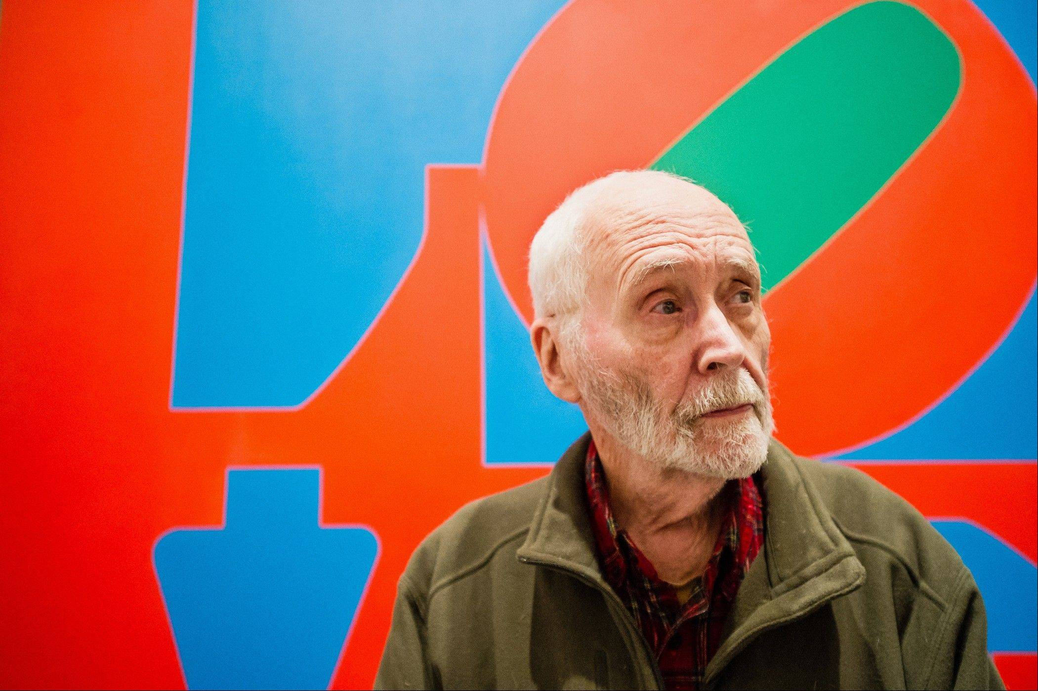 "Artist Robert Indiana, known the world over for his LOVE image, talked about that painting at New York's Whitney Museum of American Art recently. Surrounded by 95 works he created over the past five decades, Indiana, who turned 85 this month, calls the retrospective ""a dream come true, a little late."""