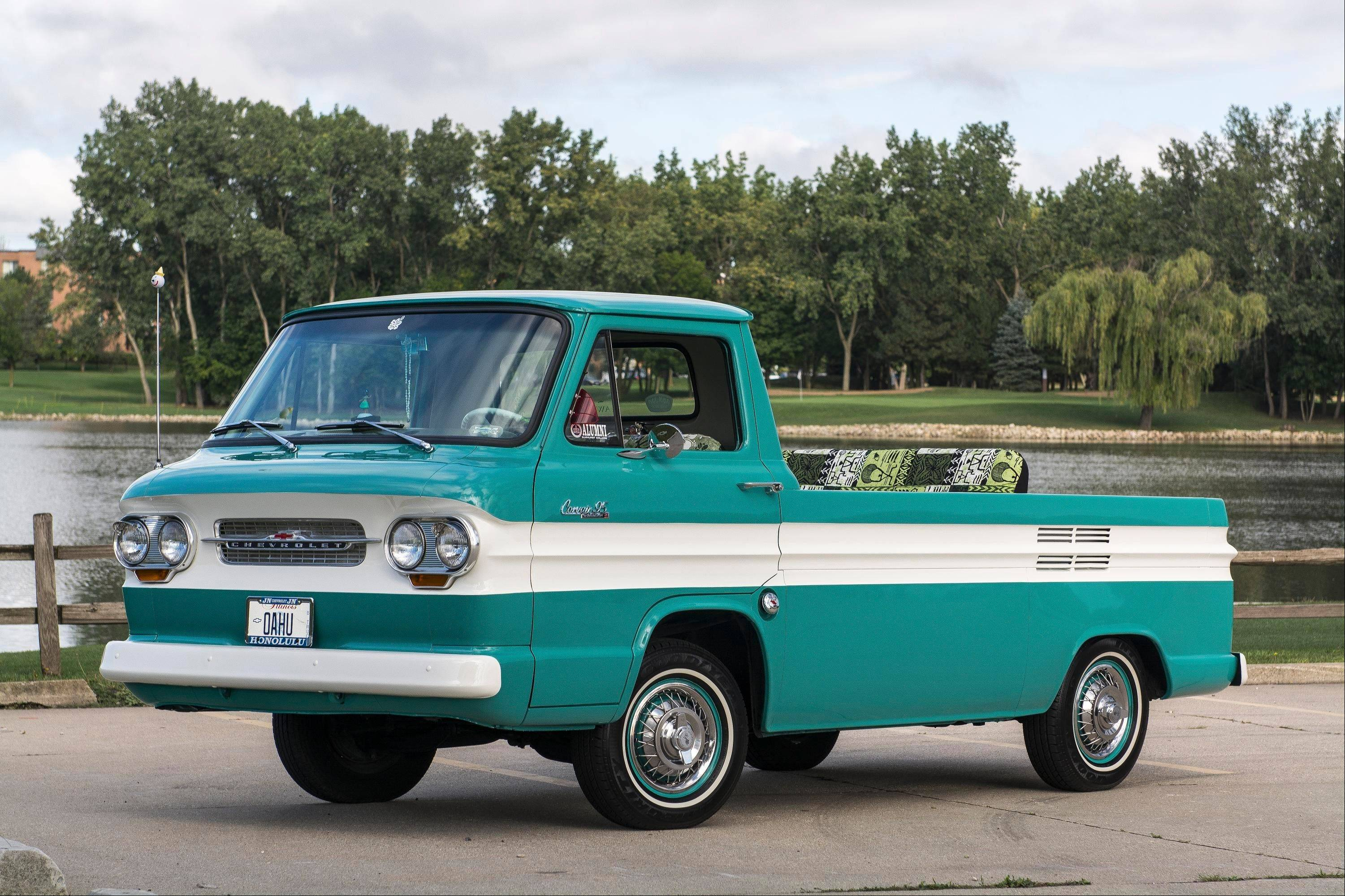 John Skowron, of Arlington Heights, owns this 1963 Corvair Rampside.