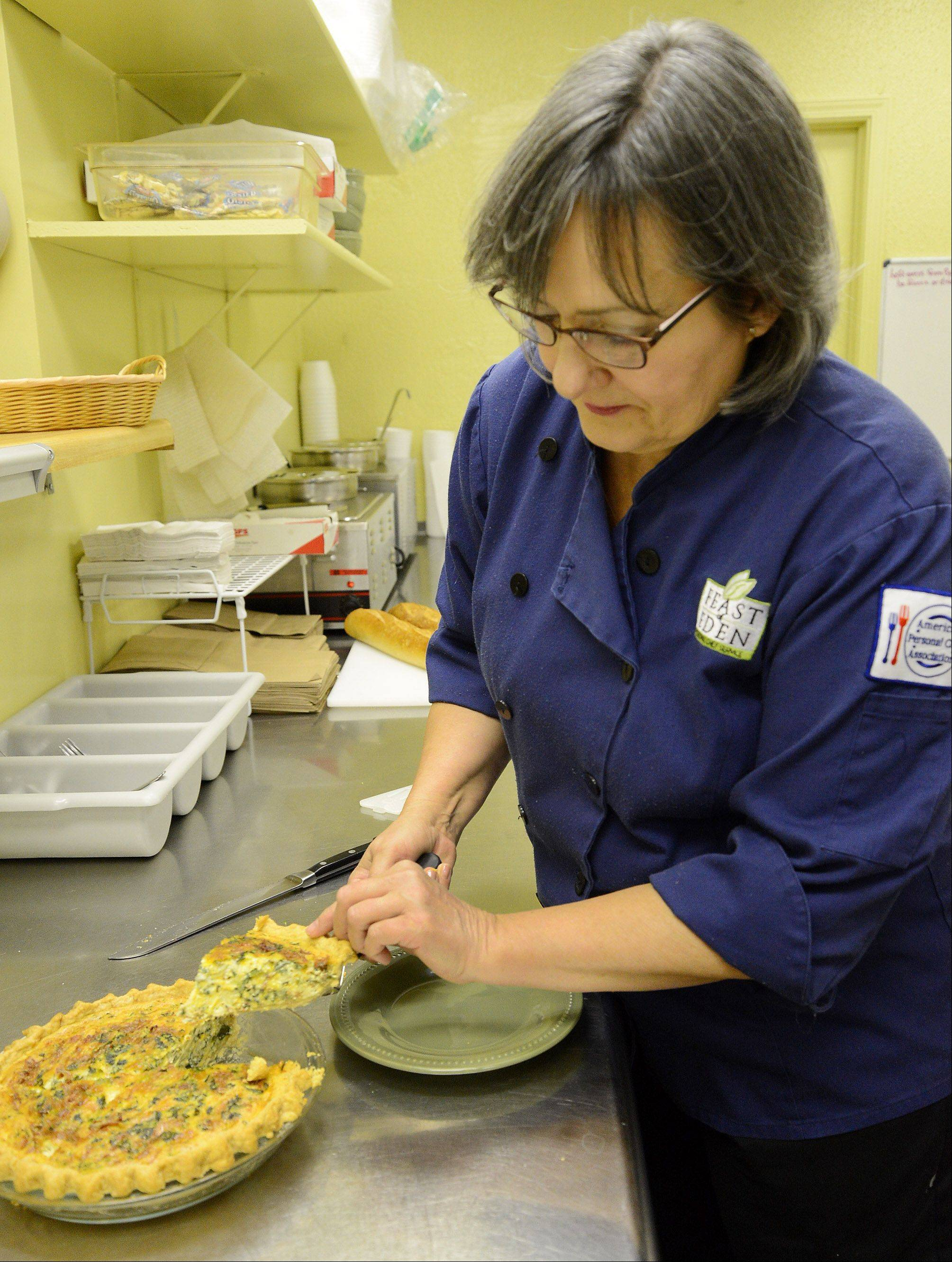 Chef Lisa Bellan adds mayonnaise to her Speedy Bacon and Cheddar Quiche to boost the flavor and texture of the filling.