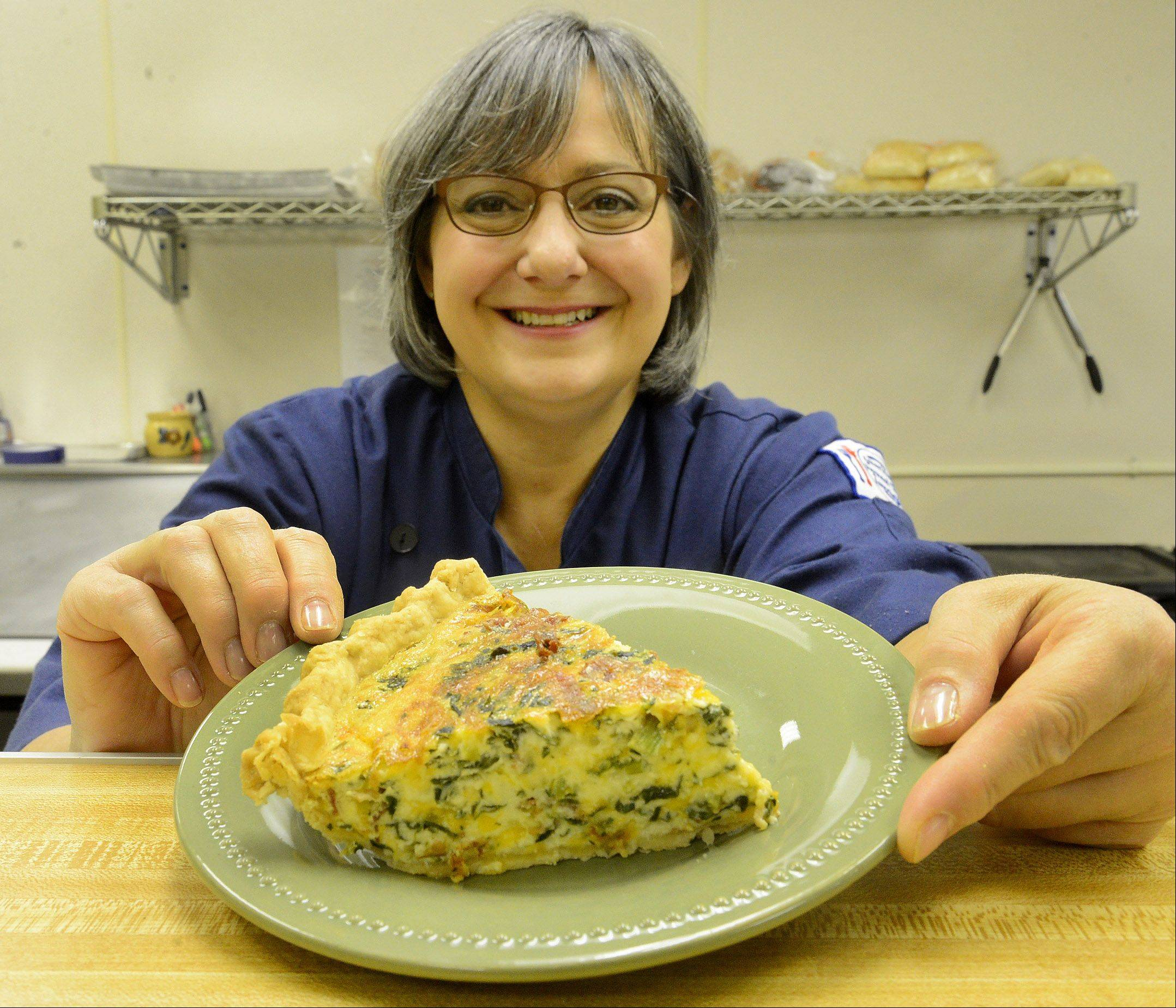 Feast of Eden chef/owner Lisa Bellan bakes Midwest ingredients into her Speedy Bacon and Cheddar Quiche.