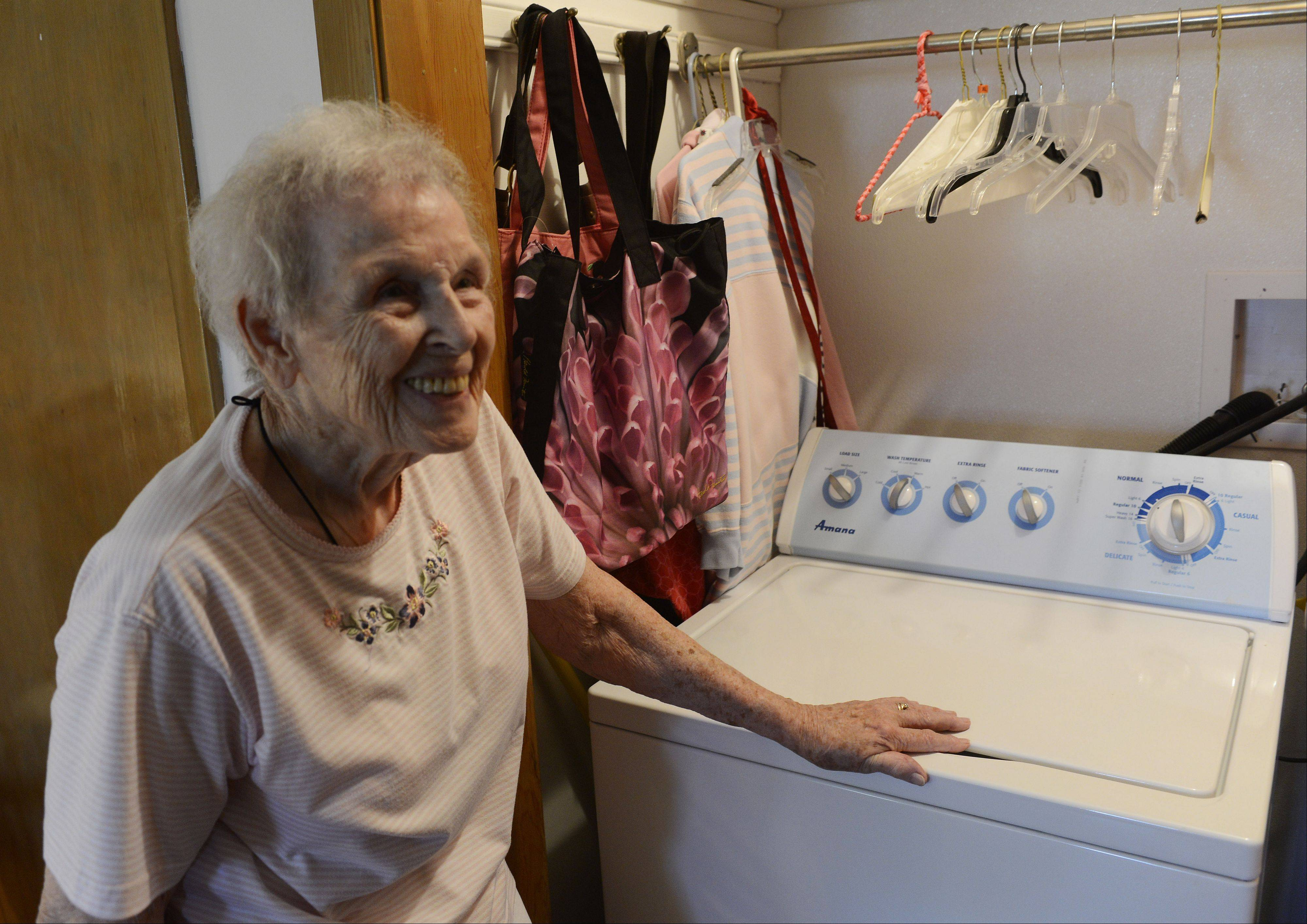 Margaret Fletcher of Des Plaines has a laundry room which was built into her bedroom closet so she does not have to go into the basement. Angel Guardian, a Barrington-area business co-founded by Fletcher's daughter-in-law, helps make senior's home's safe to live in after they begin to lose their physical abilities and strength.