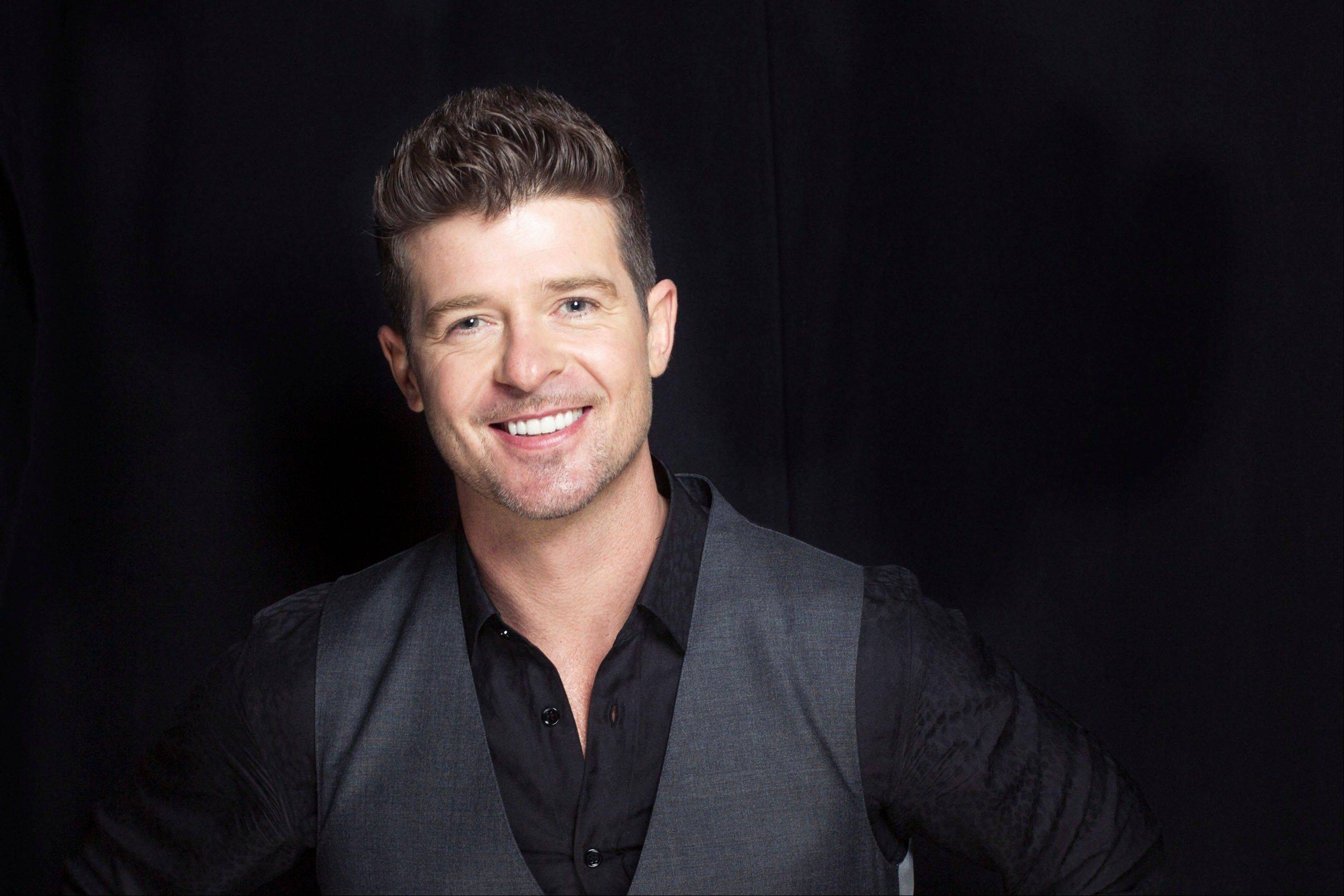 R&B singer-songwriter Robin Thicke is one of the headliners for the V103 25th Anniversary concert at the Allstate Arena in Rosemont on Saturday, Oct. 5.