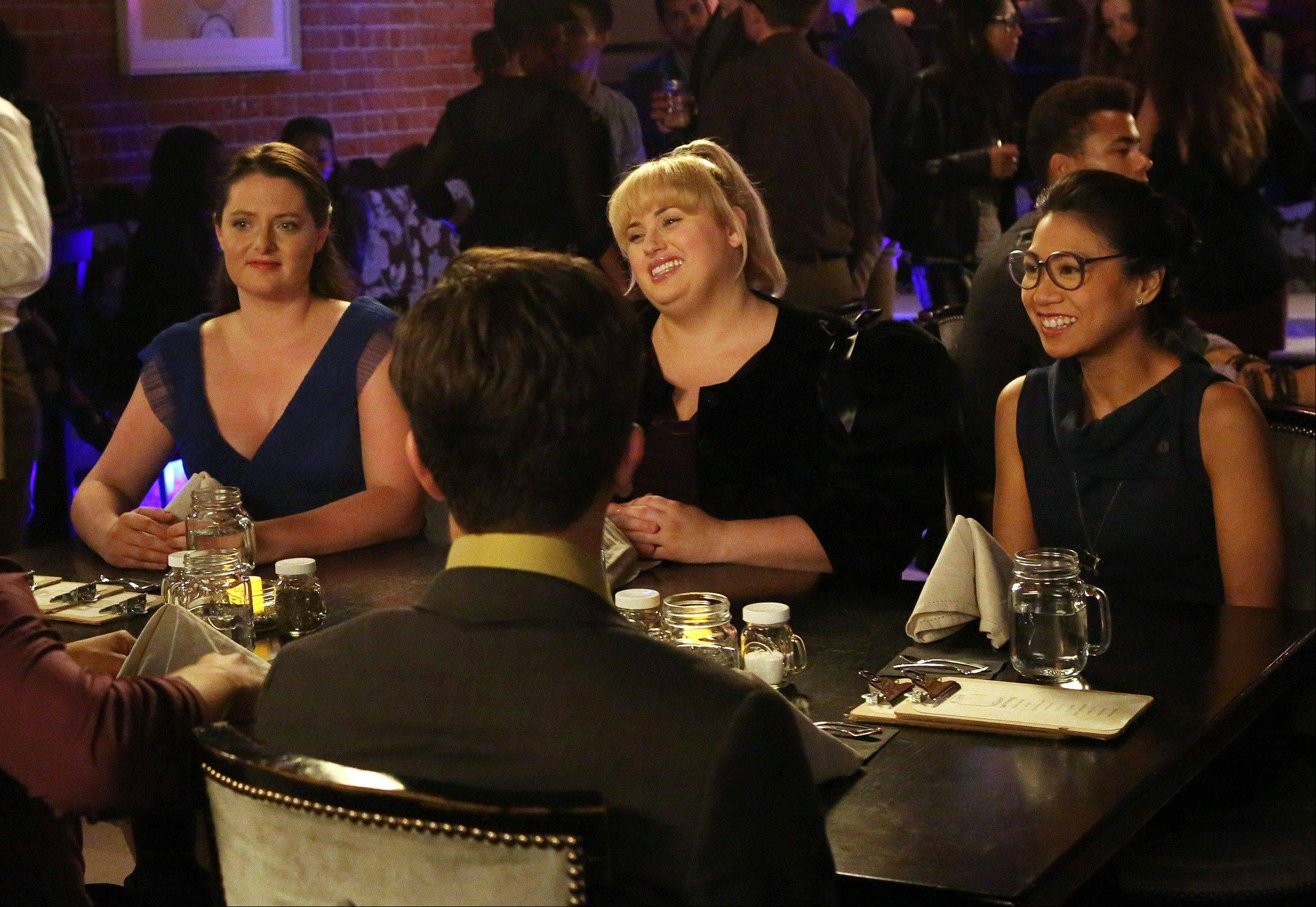 "Lauren Ash, left, Rebel Wilson and Liza Lapira head out on the town in ""Super Fun Night,"" premiering Wednesday, Oct. 2, on ABC."