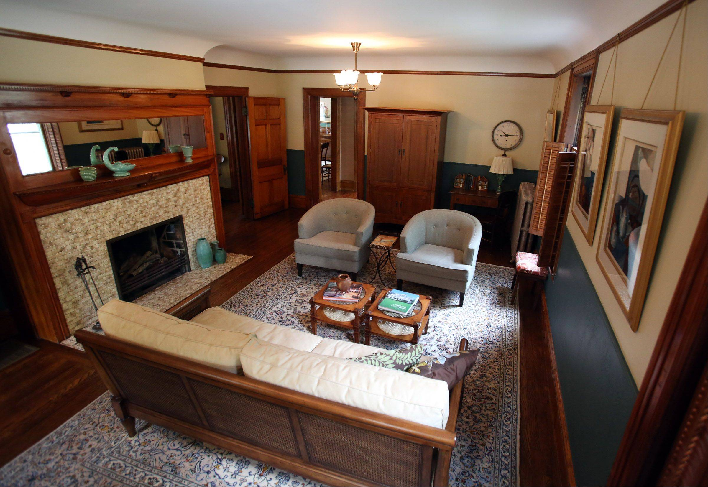 The Thompsons' living room was two rooms in the distant past.