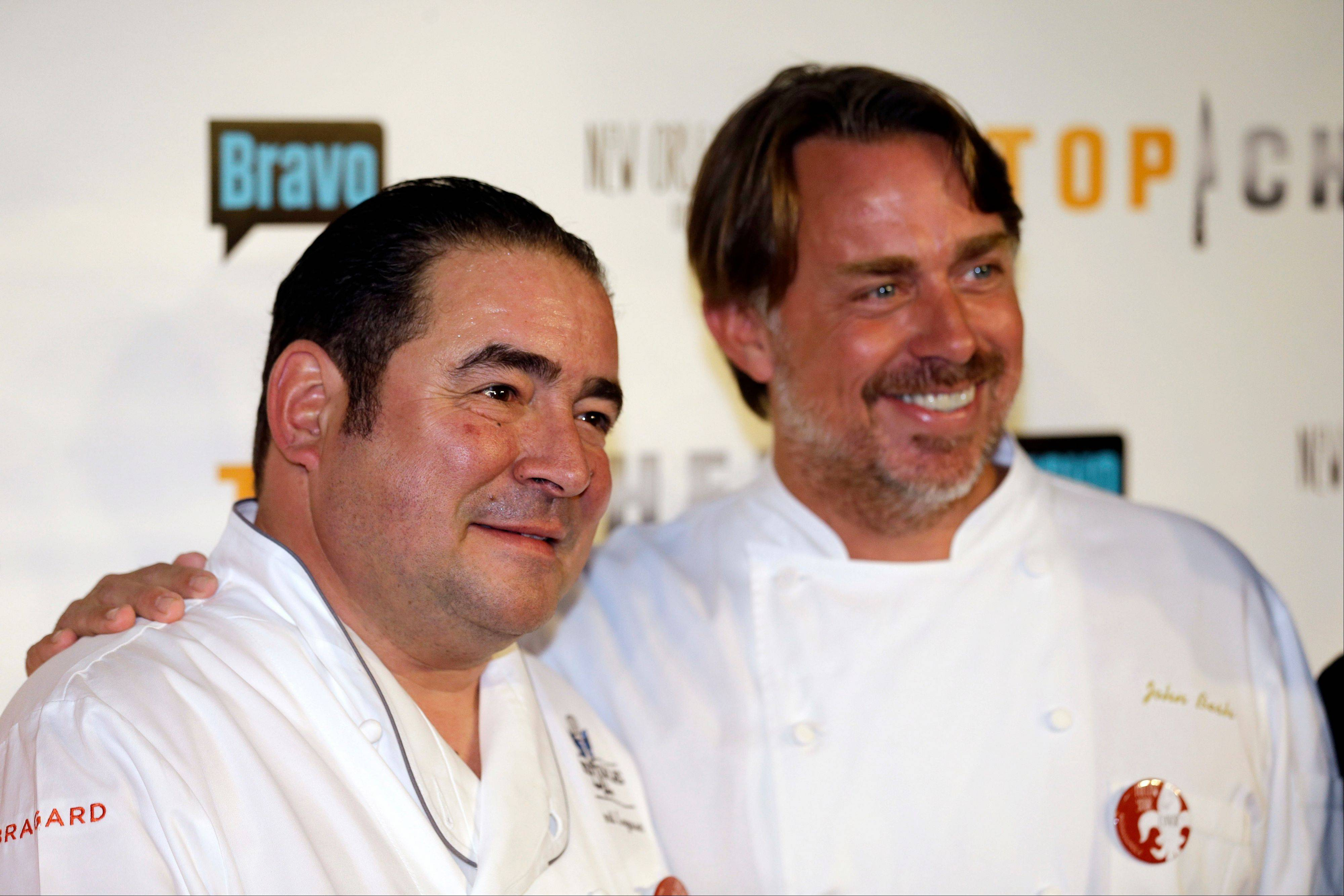 "Chef Emeril Lagasse, left, who returns as a judge on Bravo's ""Top Chef"" and chef John Besh think that this season based in New Orleans will be different from any other."