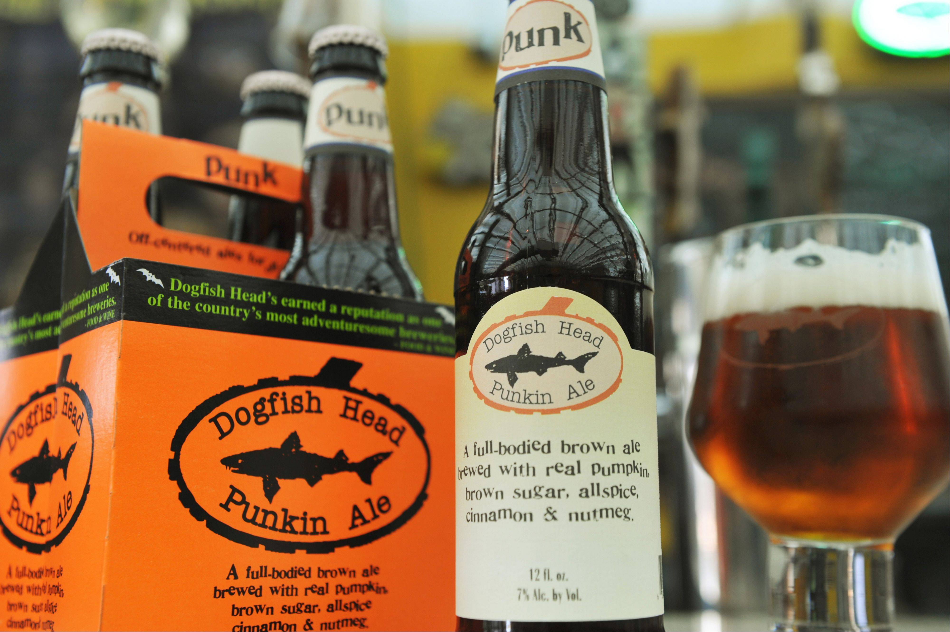 Punkin Ale from Dogfish Head Craft Brewery is first and foremost a brown ale, but is complemented with more subtle flavors of pumpkin, brown sugar, cinnamon and nutmeg.
