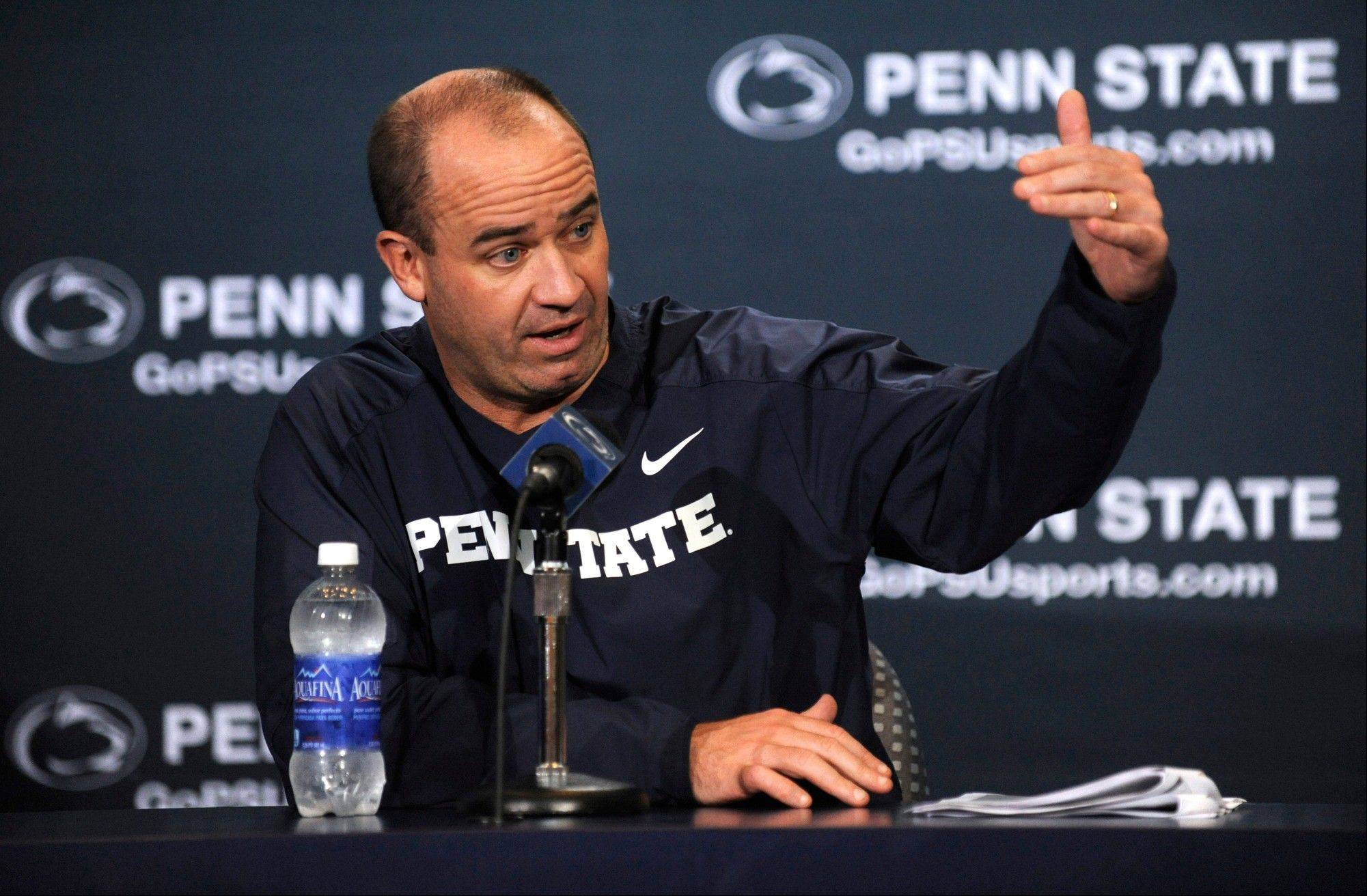 "Penn State head coach Bill O'Brien says his Nittany Lions ""are very aware that is a very important time of the year."" Penn State plays at Indiana on Saturday."