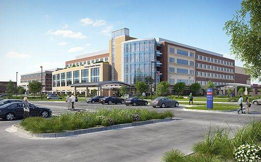 This rendering depicts the proposed Centegra Hospital-Huntley that would house 128 beds, a women's center and an emergency department. The $233 million, 360,000-square-foot facility would go up on Haligus Road, between Algonquin and Reed roads.