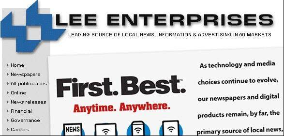 Newspaper publisher Lee Enterprises Inc. says it has cut its debt to $847.5 million, two years ahead of a schedule outlined in its reorganization plan.
