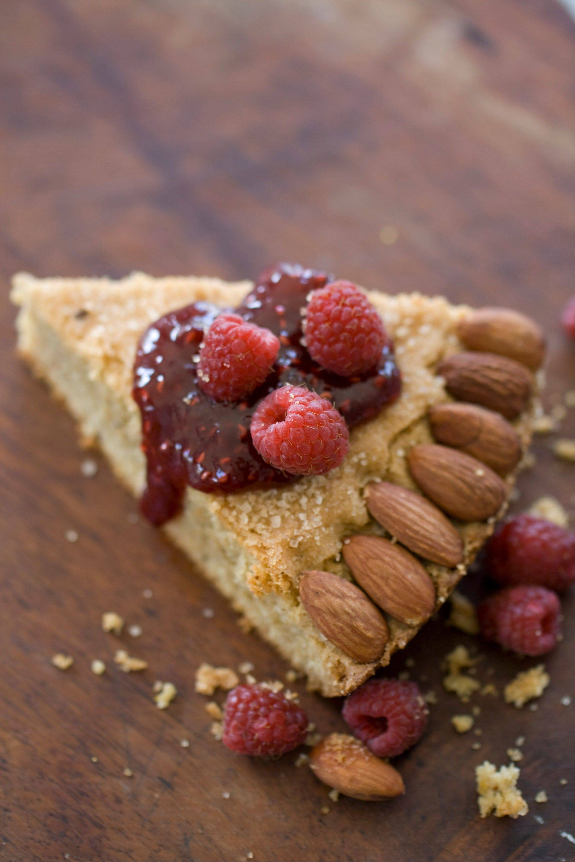 This Sept. 8, 2013 photo shows a citrus spice almond butter torte in Concord, N.H. (AP Photo/Matthew Mead)