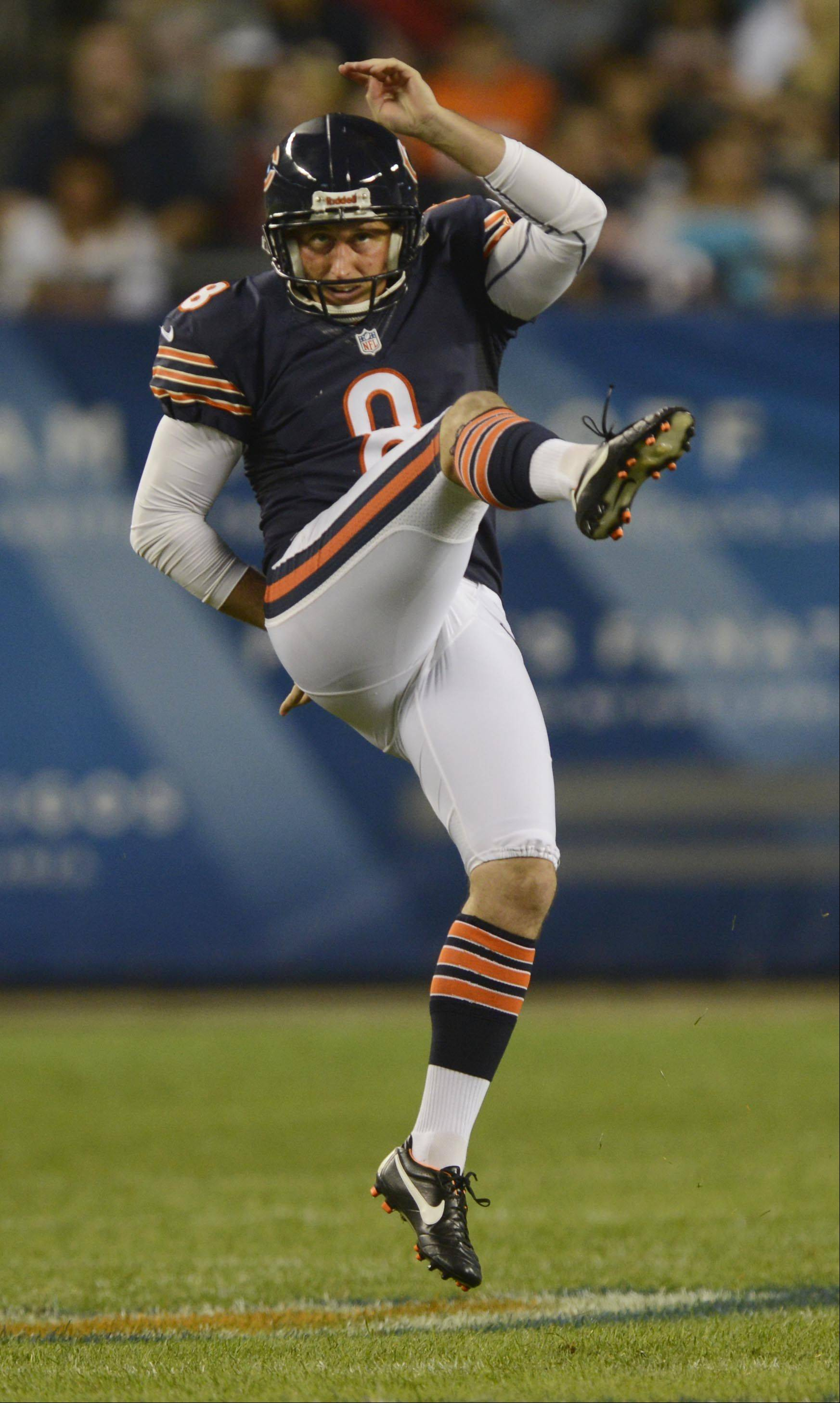 Bears punter Adam Podlesh understands he can't have another game like he did in Sunday's loss at Detroit.