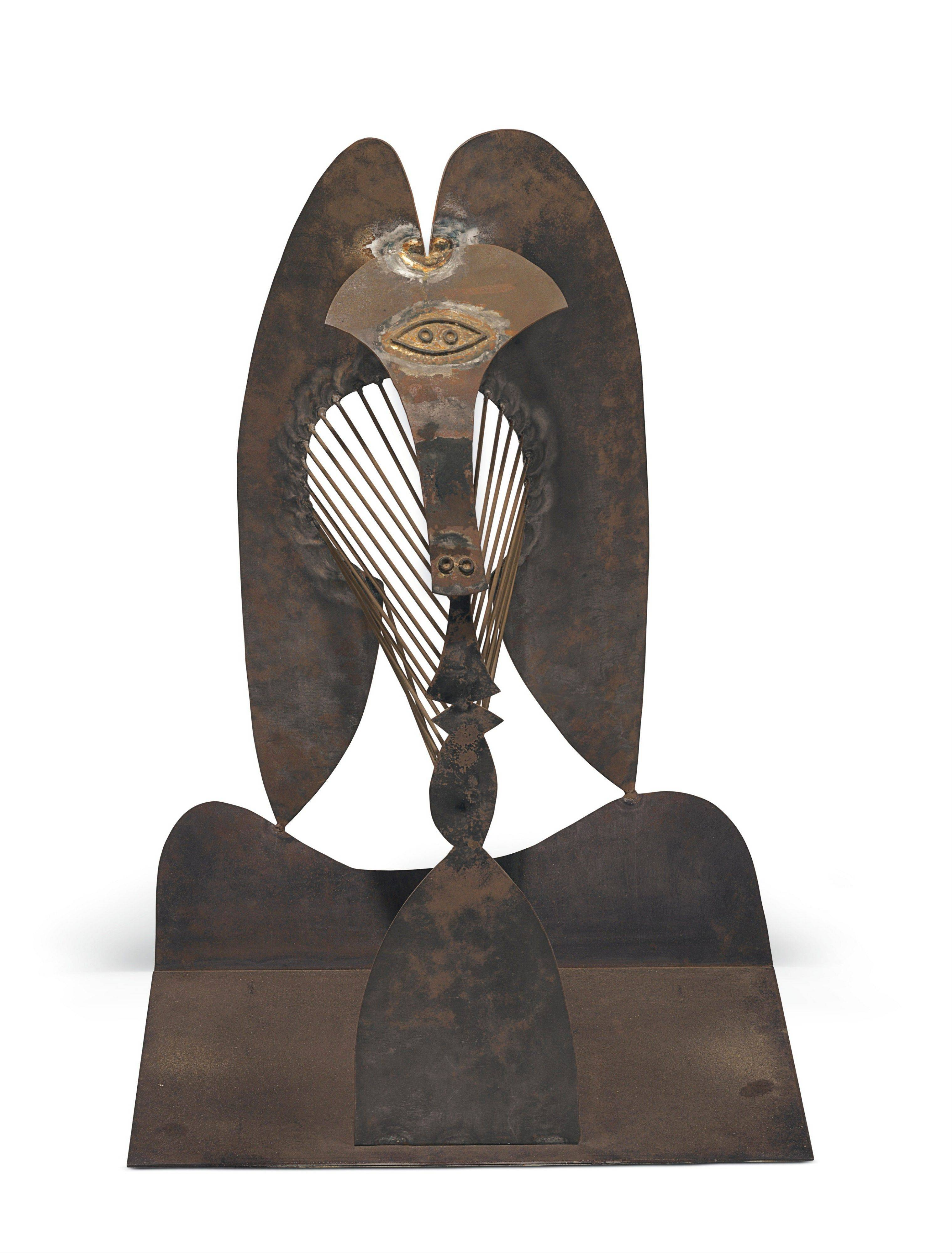 "This 2013 photo provided by Christie's Images Ltd. shows a model of Pablo Picasso's famed Chicago sculpture named ""Tete,"" that will be auctioned next month. Christie's estimates it will sell for between $25 million and $35 million."