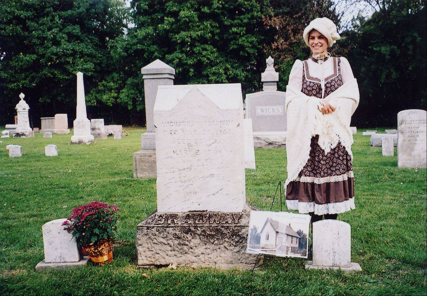 A costumed actress represents someone buried in the Grayslake Cemetery at a previous Grayslake Cemetery Walk. This year's event will take place at 1:30 and 2:30 p.m. Sunday, Oct. 6.